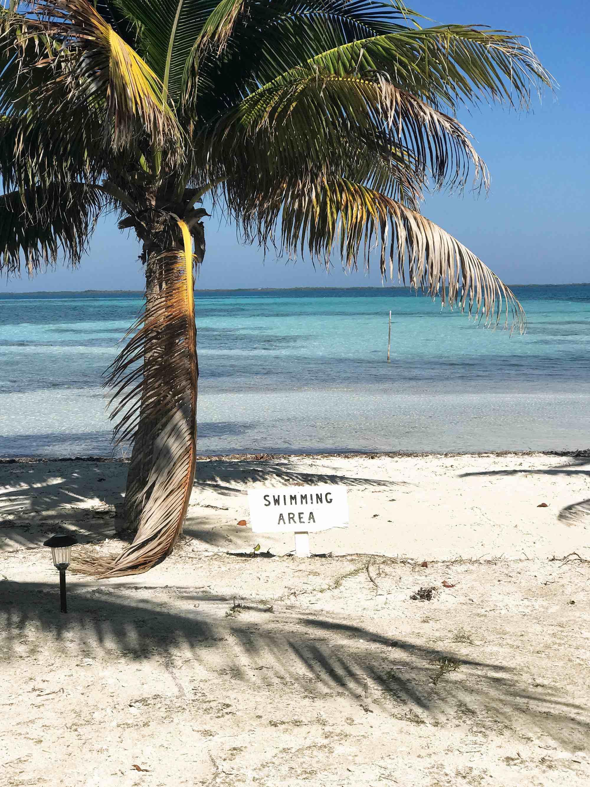 beach on Ragga Caye | Belize sailing trip
