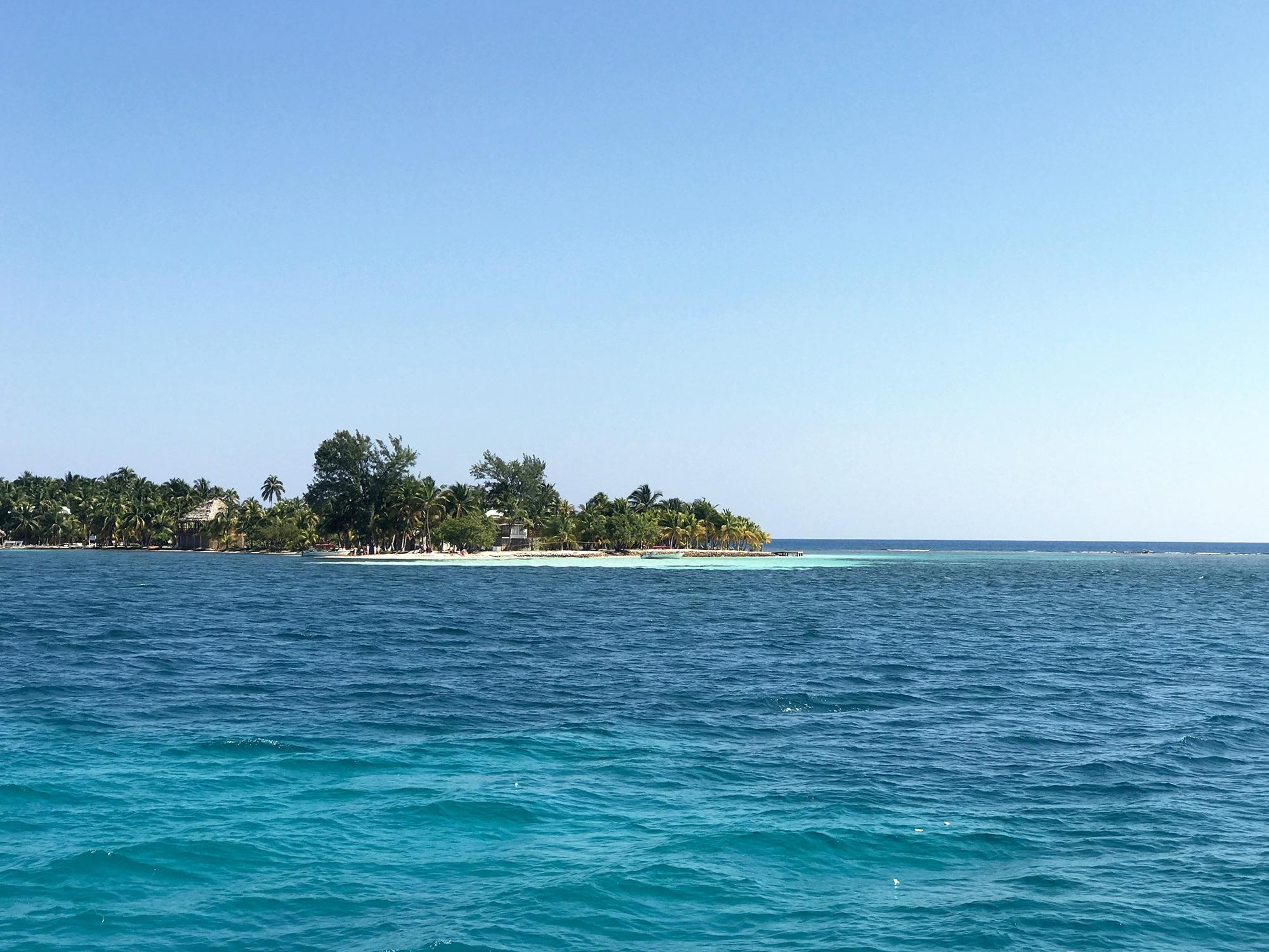 island while sailing Belize