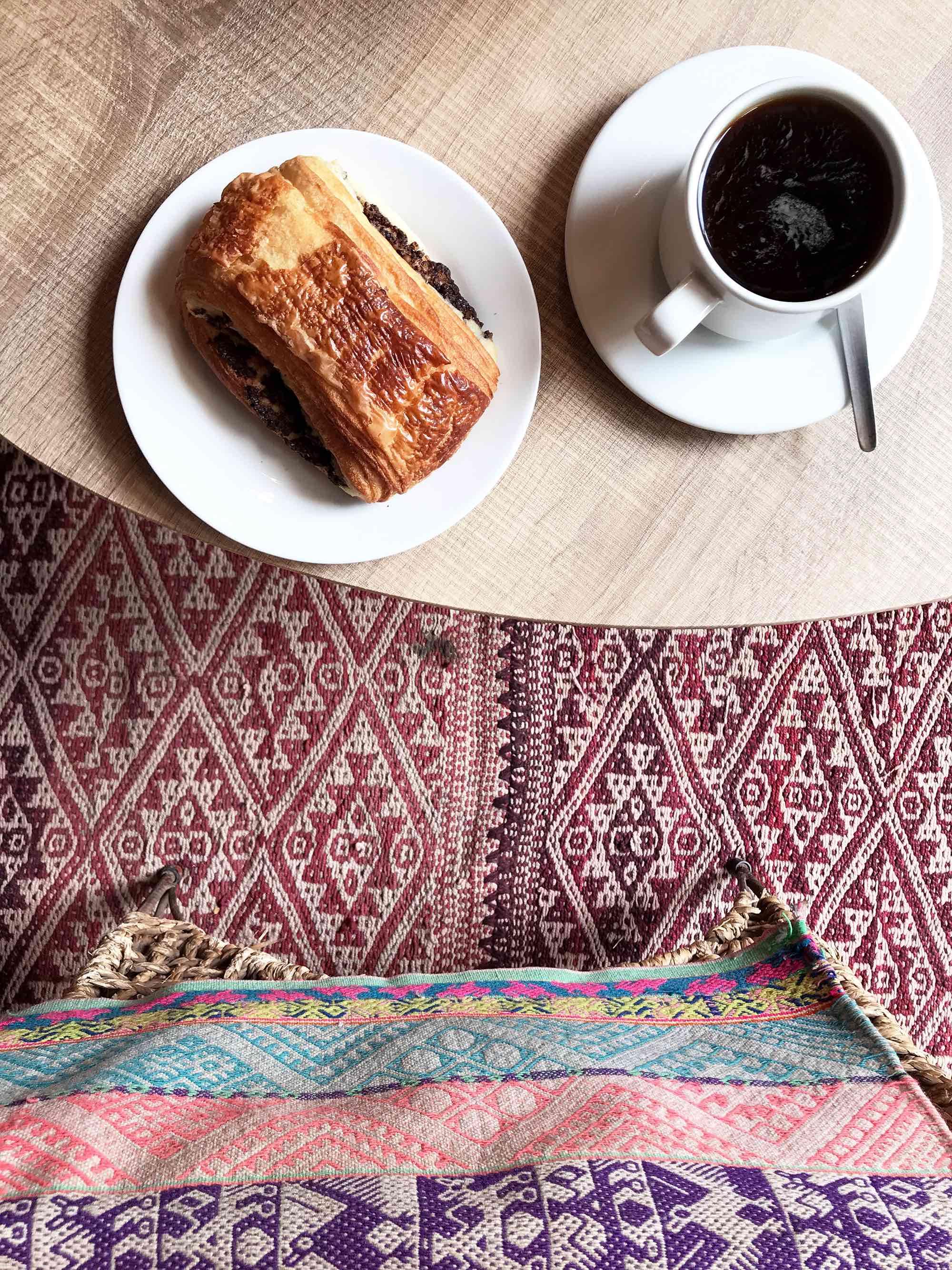 pastry at Cocoliso coffee shop in Cusco, Peru