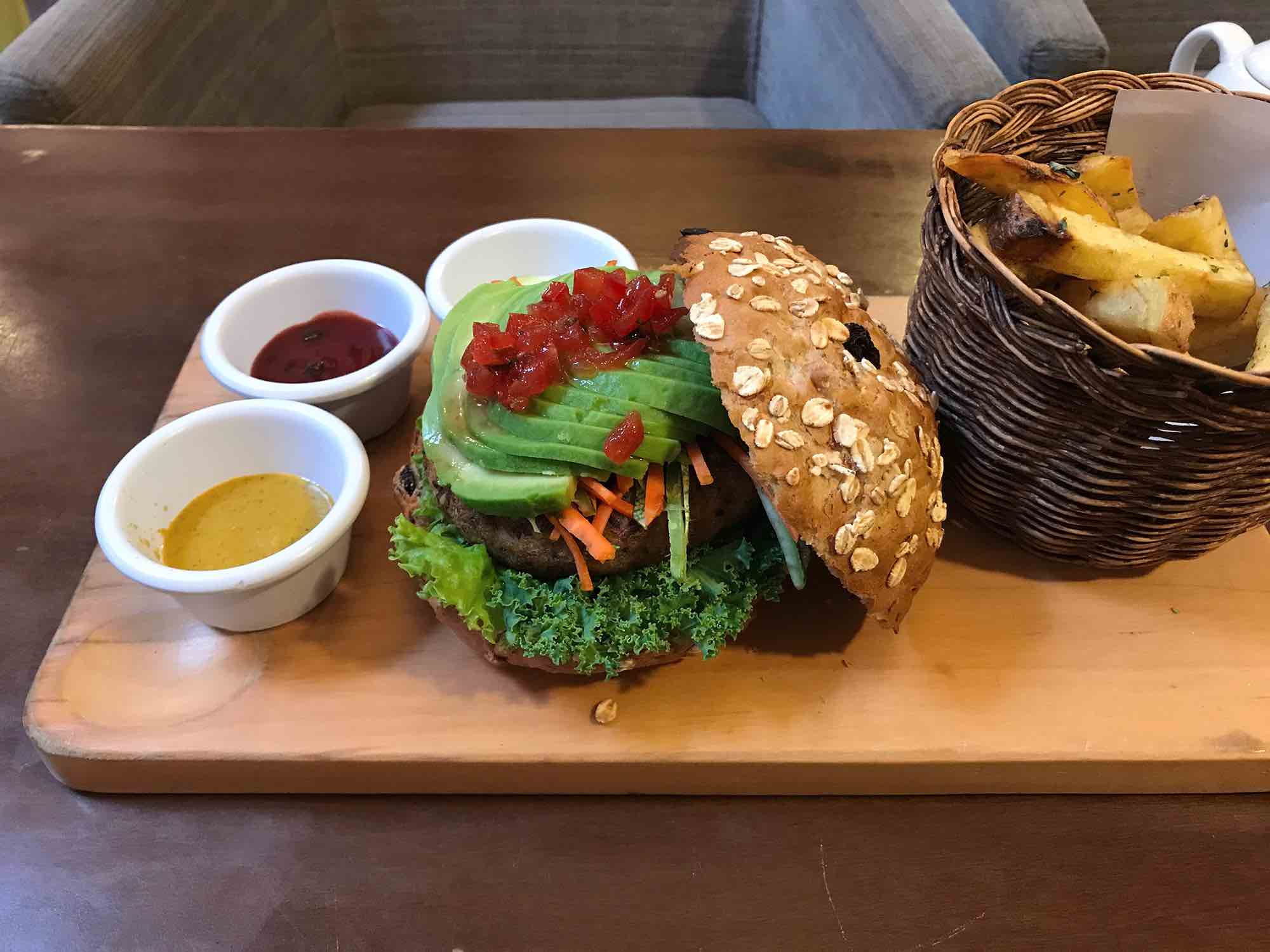food at the Museo del Cafe in Cusco Peru