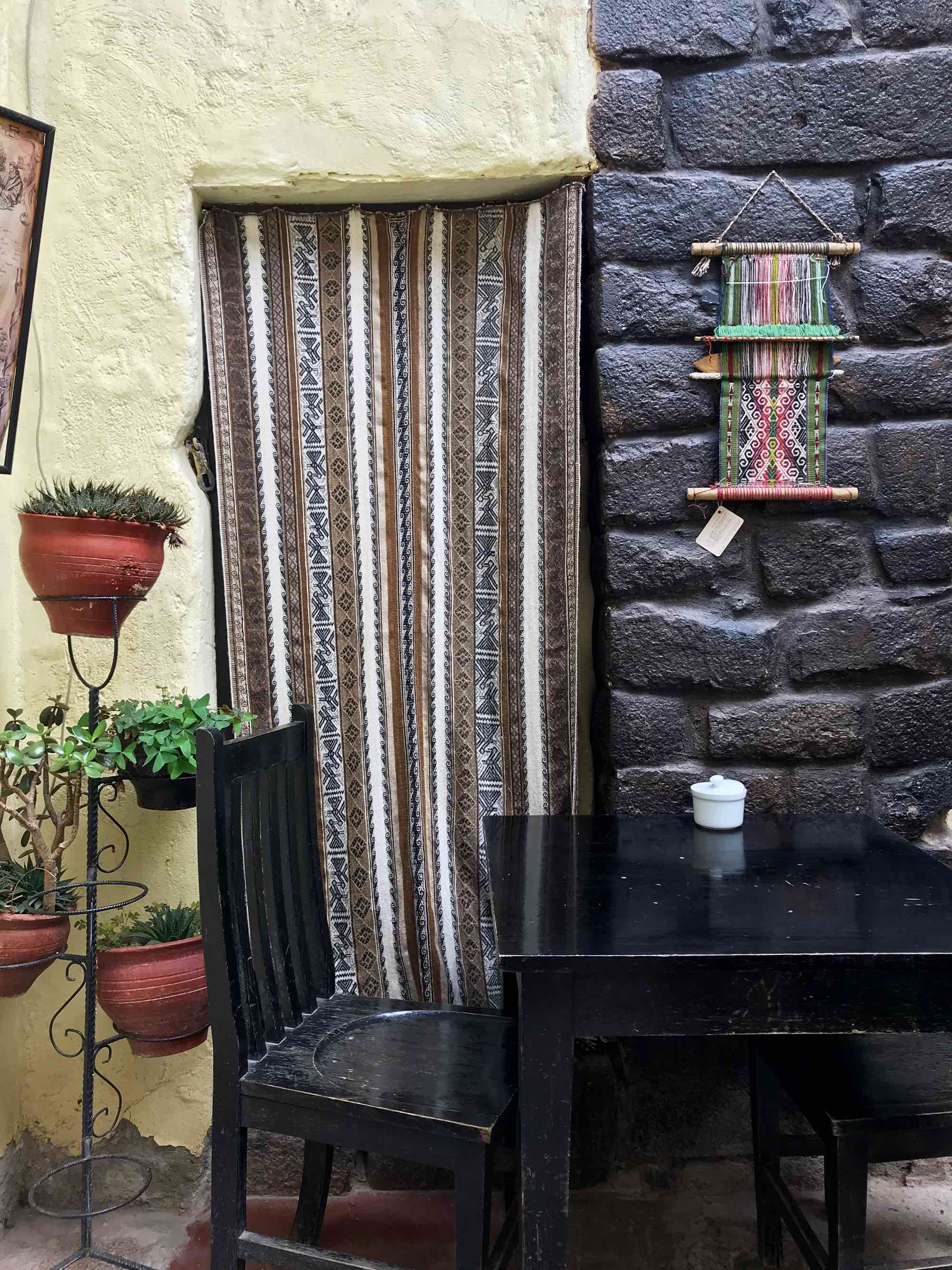 The Meeting Point cafe in Cusco Peru