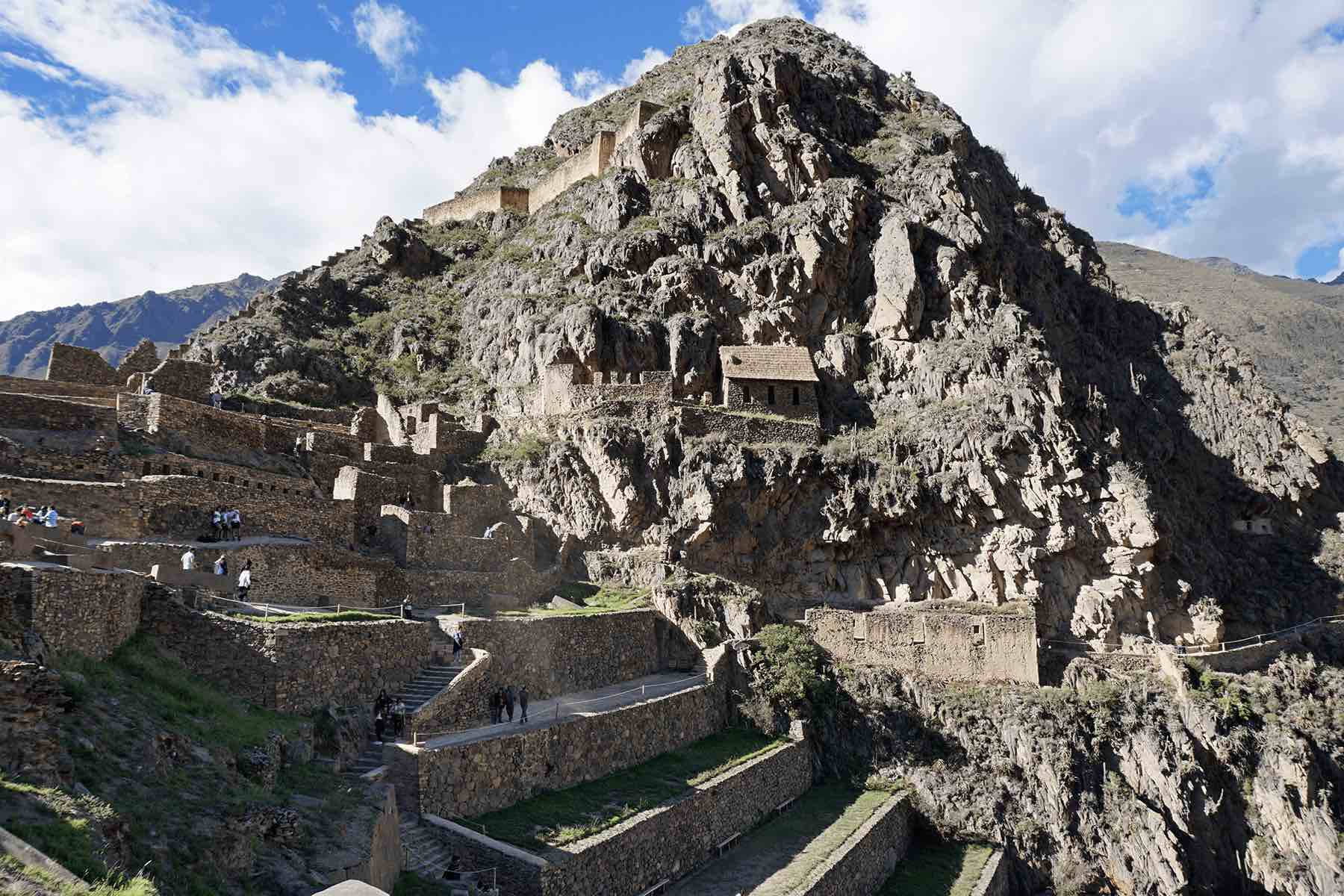 Ollantaytambo Inca ruins in the Sacred Valley of Peru