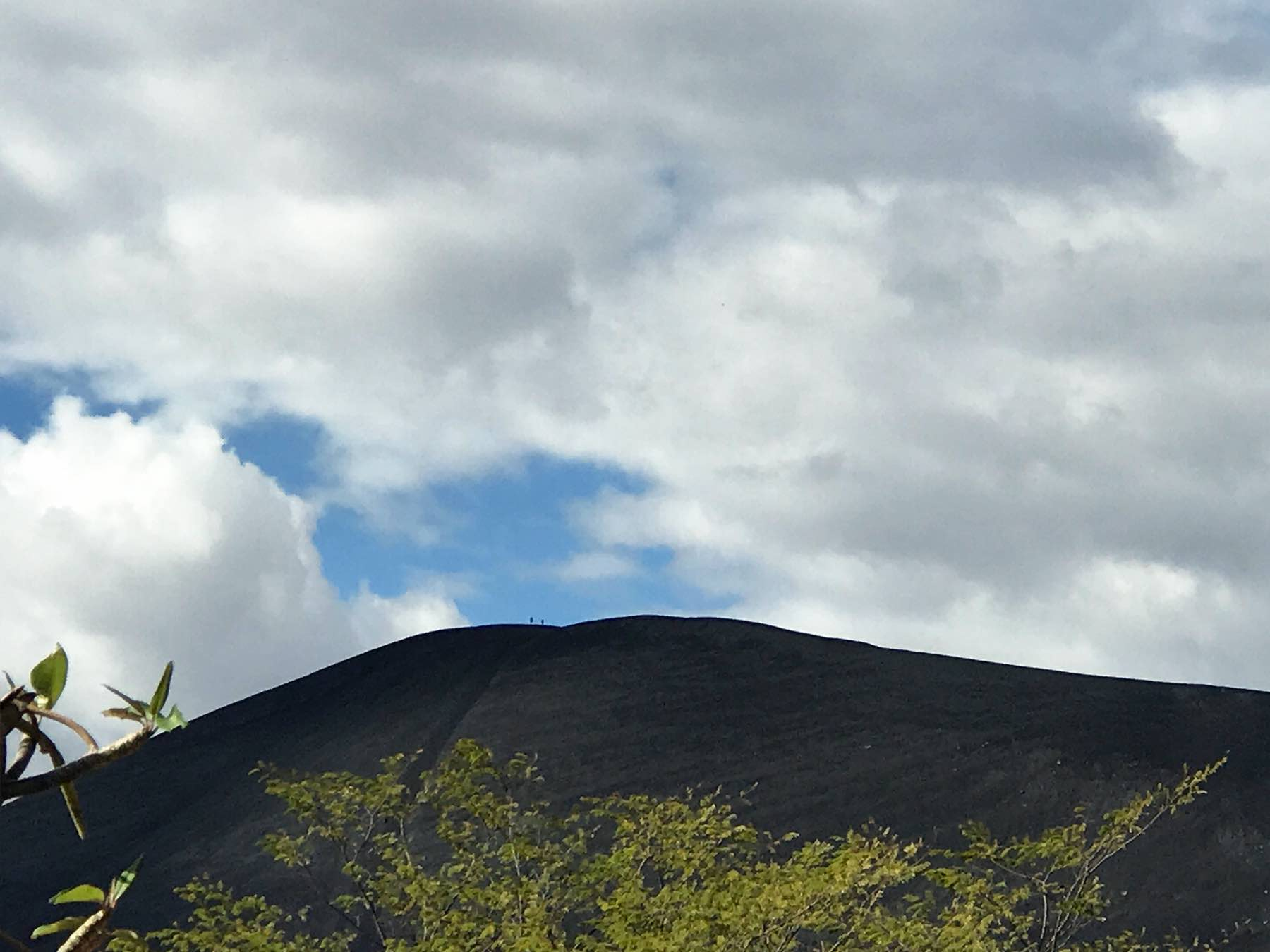 Can you see the tiny people on top of Cerro Negro?!