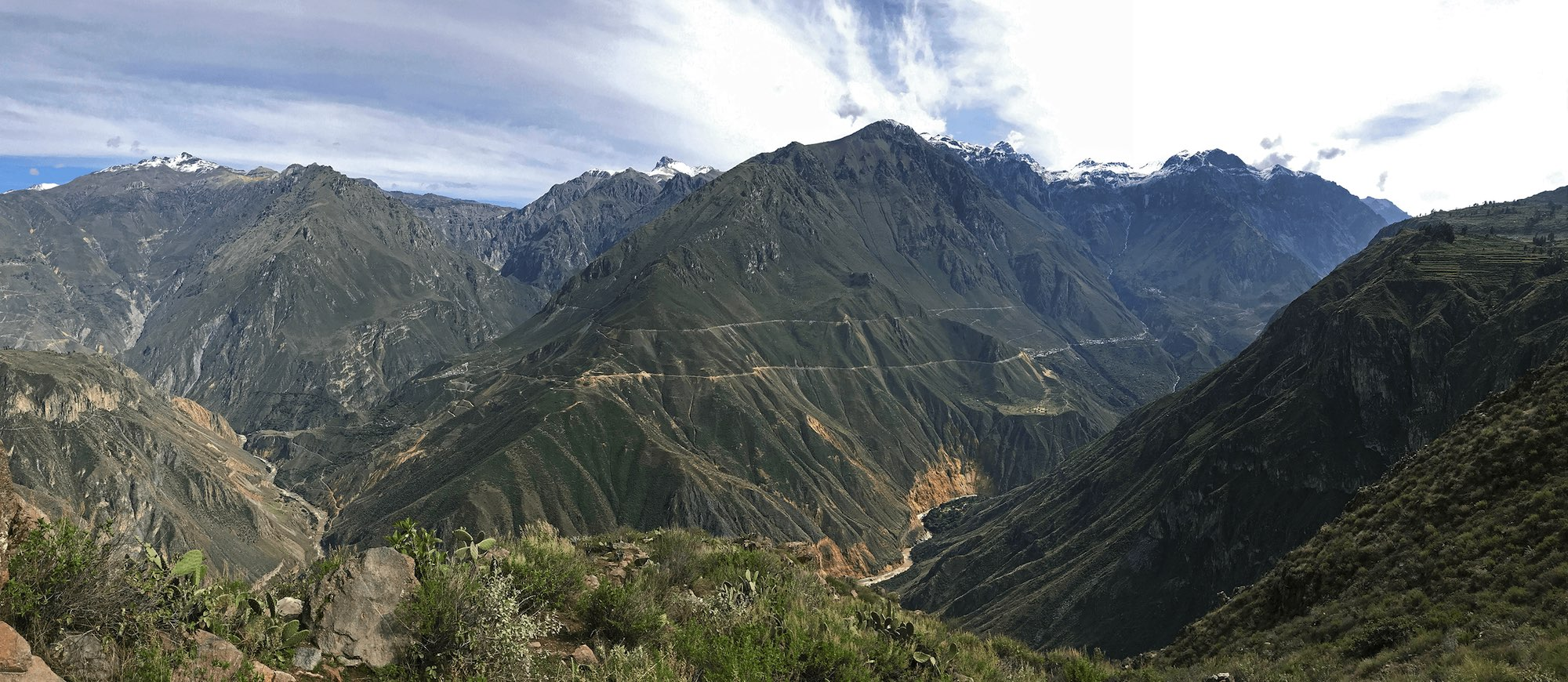 Colca Canyon Peru panorama