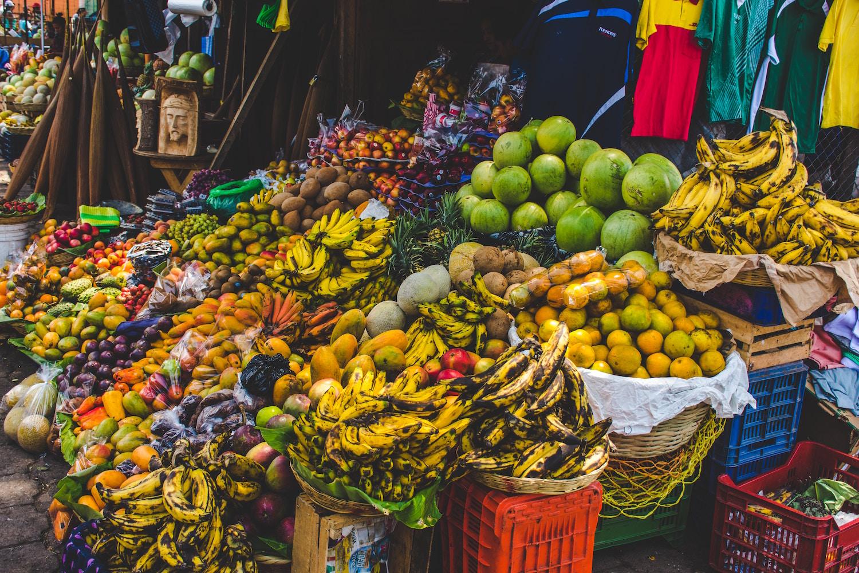 fresh fruit at a market in Guatemala