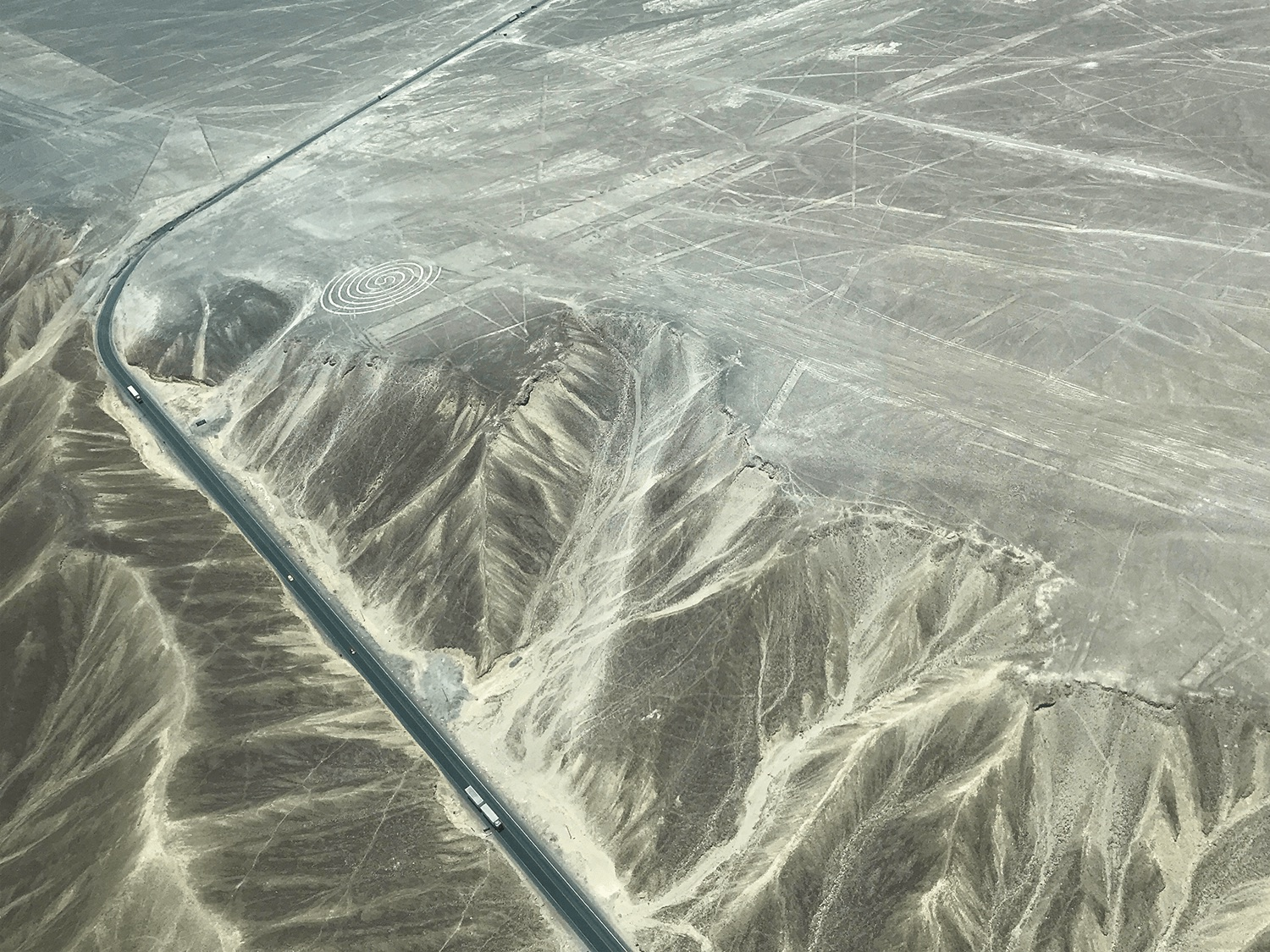 Nazca Lines | Ancient drawing of a spiral in Peru