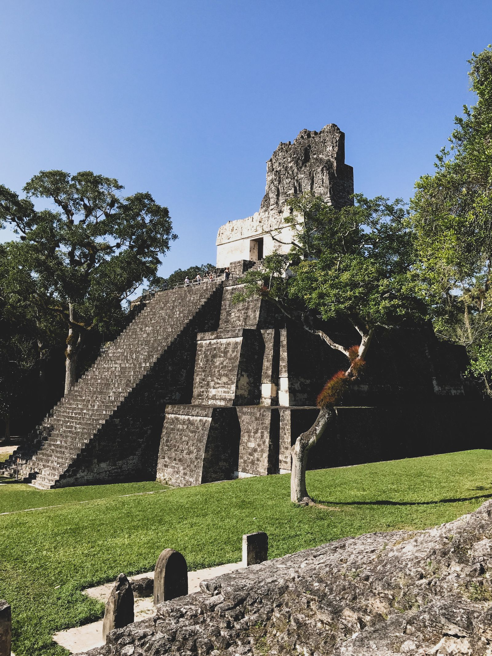 Temple II in Tikal National Park, Guatemala