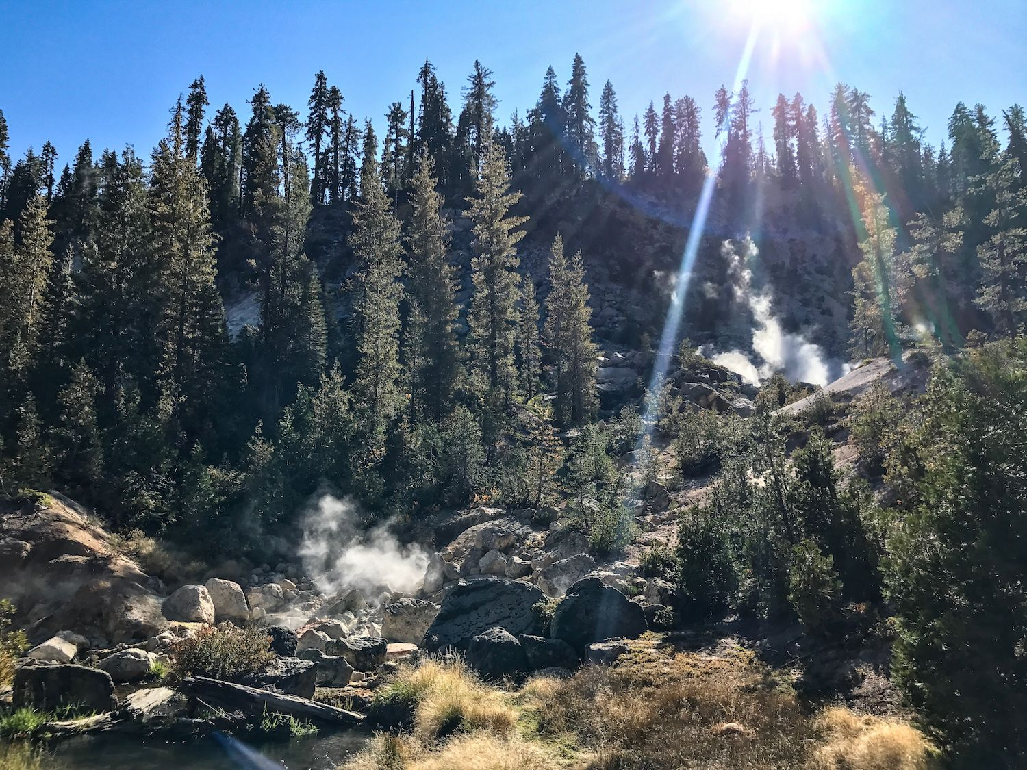 geothermal activity in Lassen national park