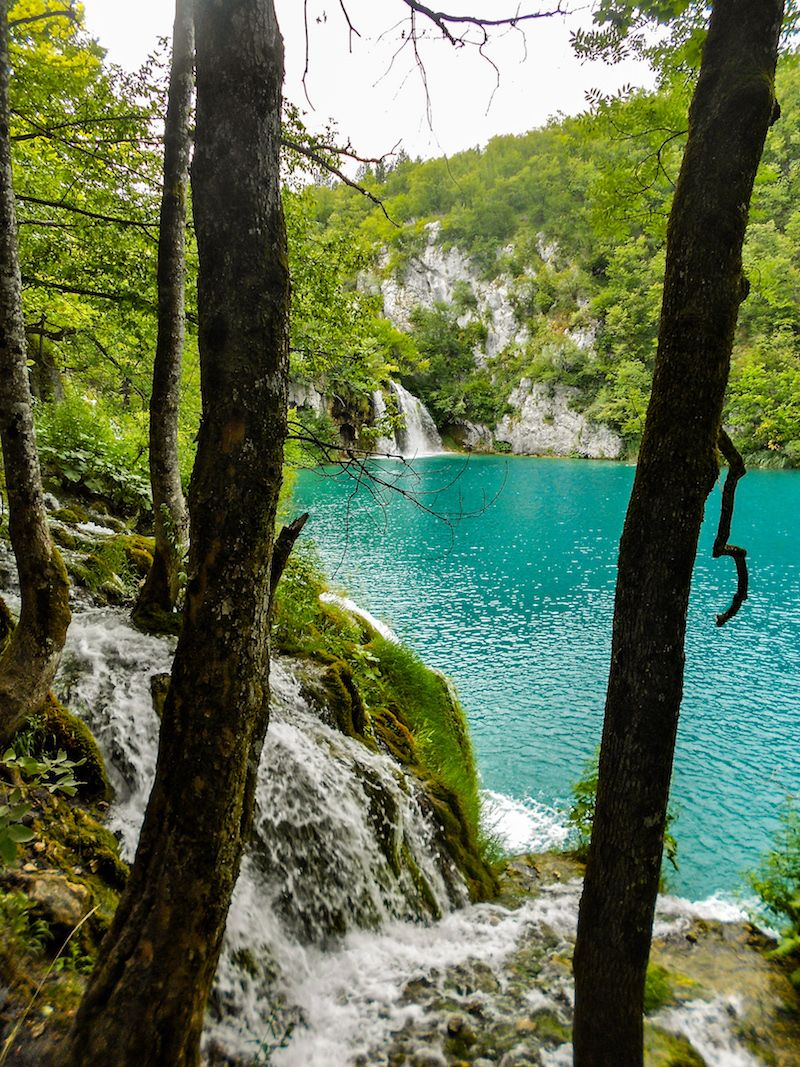 lakes and waterfall at Plitvice National Park