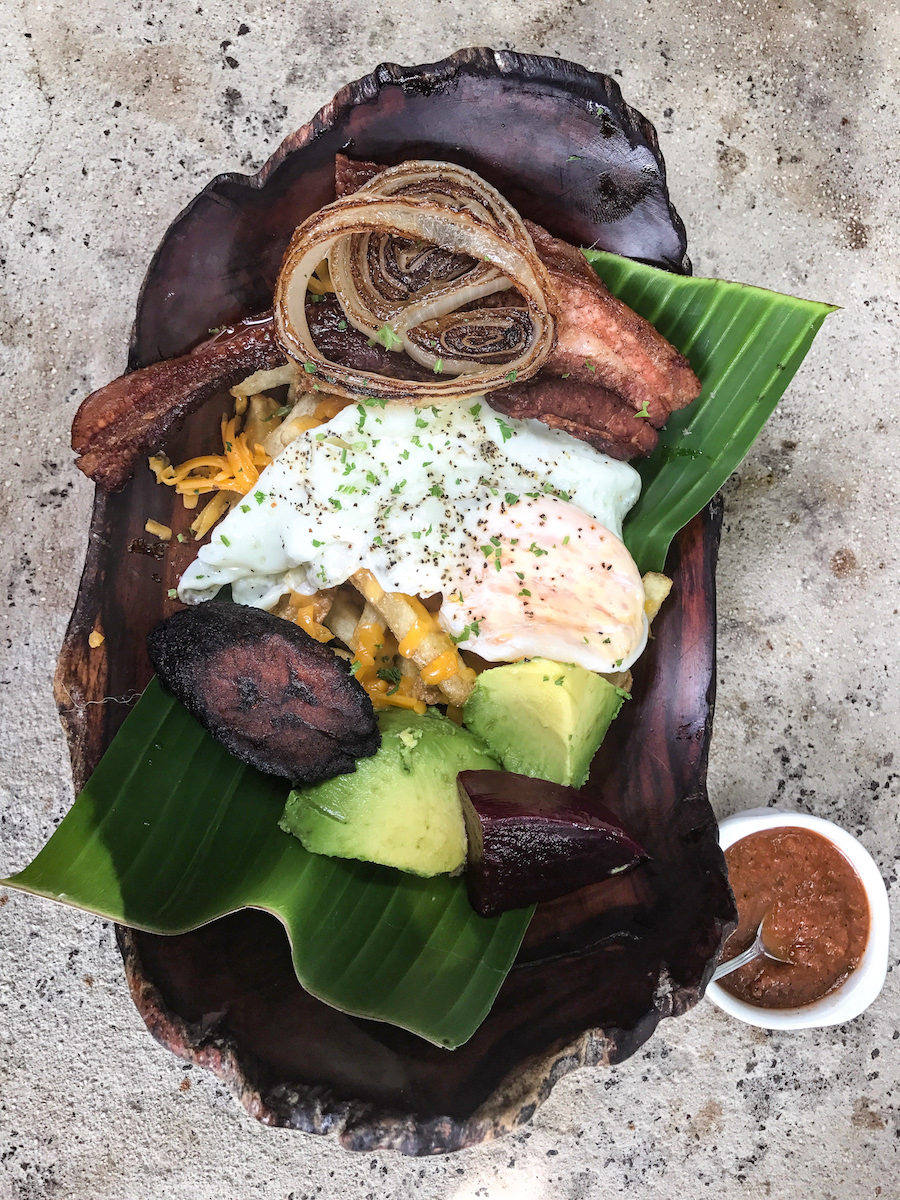 breakfast in Puerto Viejo Costa Rica