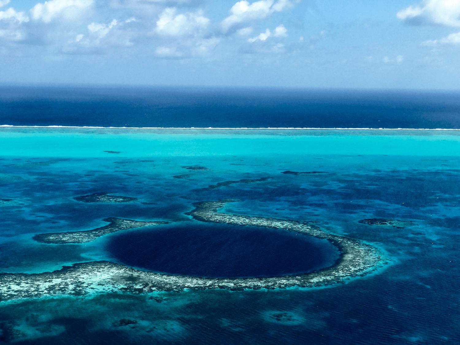 Belize Great Blue Hole | Warm Weather Destinations to Escape the Winter Cold