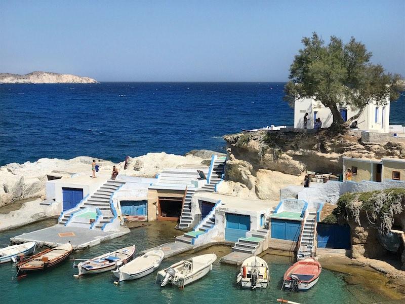 Milos Greece beach