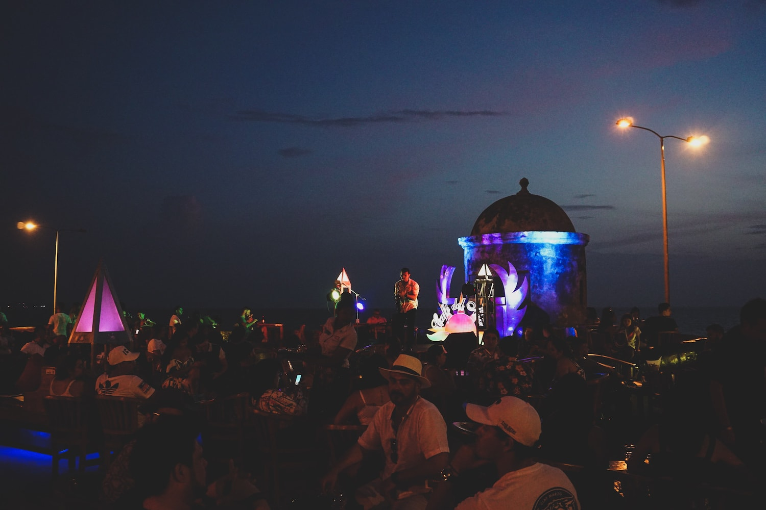 sunset and live music at Cafe del Mar | Things to do in Cartagena, Colombia