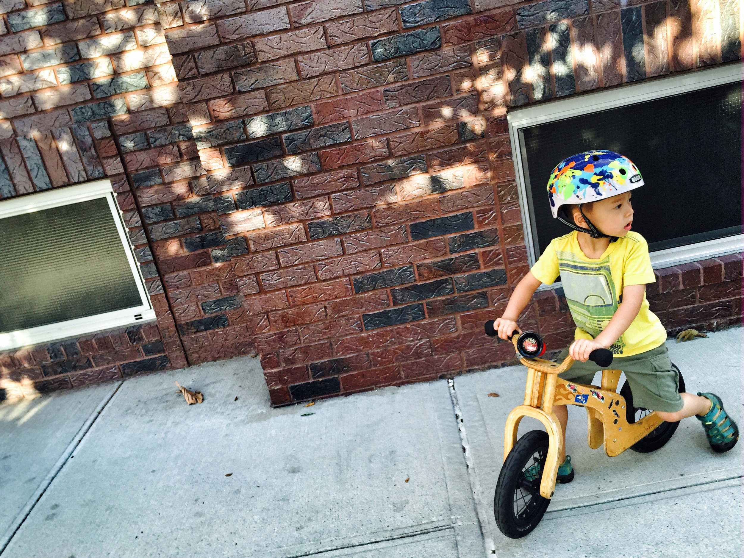 My kids both were totally engrossed with their bikes when they were little.