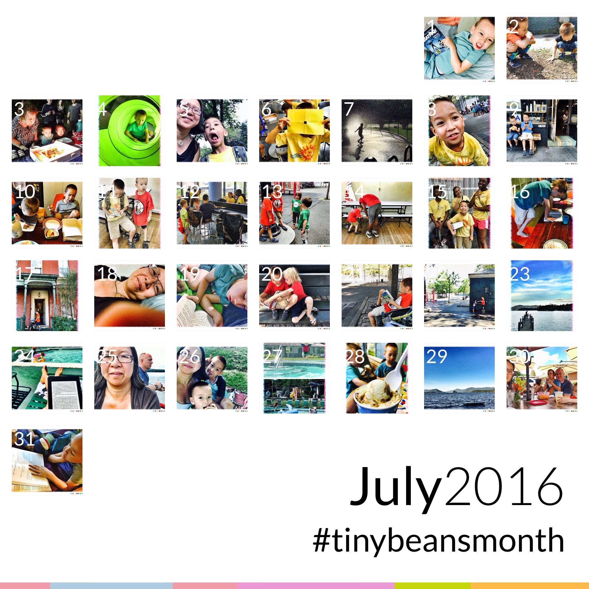 TinyBeans creates a nice sharable summary of the month.