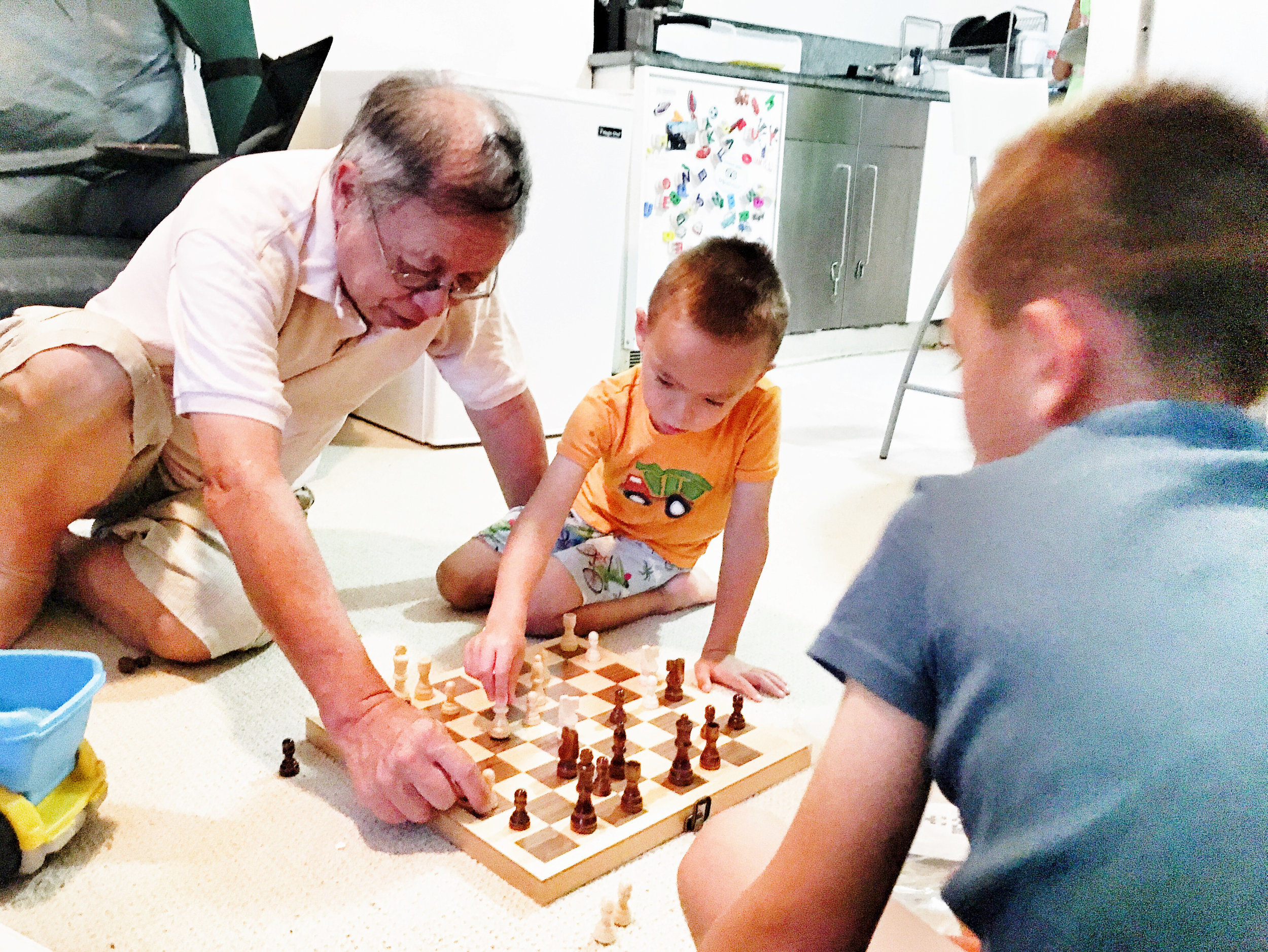 After (Jack giving my dad chess tips!)