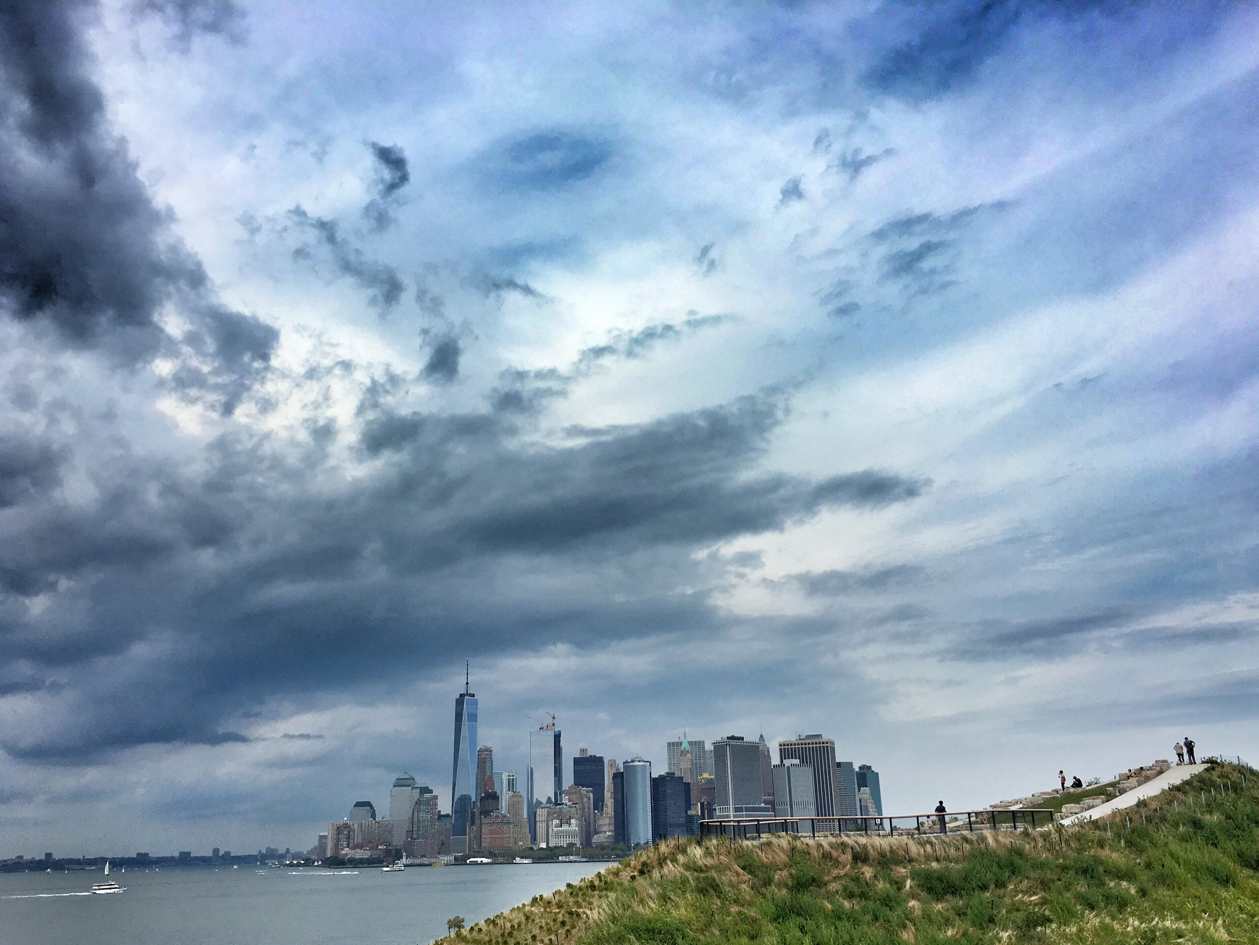 Don't forget - the moments you want to capture don't have to include your children in the frame. I captured this surreal view of downtown Manhattan from Governor's Island.