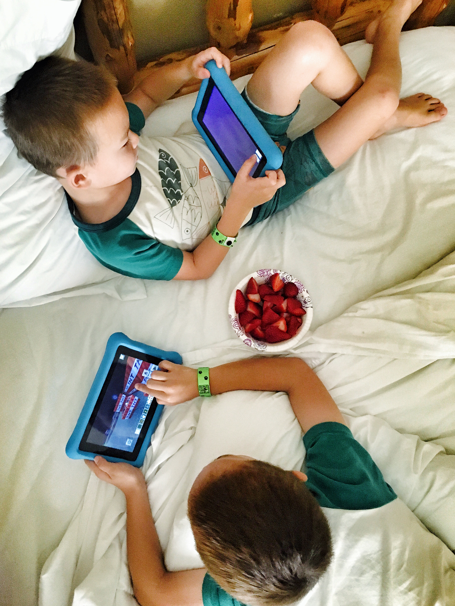 We recently let Jack start playing Minecraft... way younger than Liam did. He's growing up so fast!