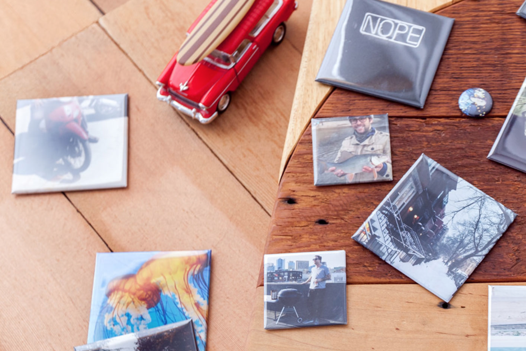 Project B: Square magnets (photo by Social Print Studio)