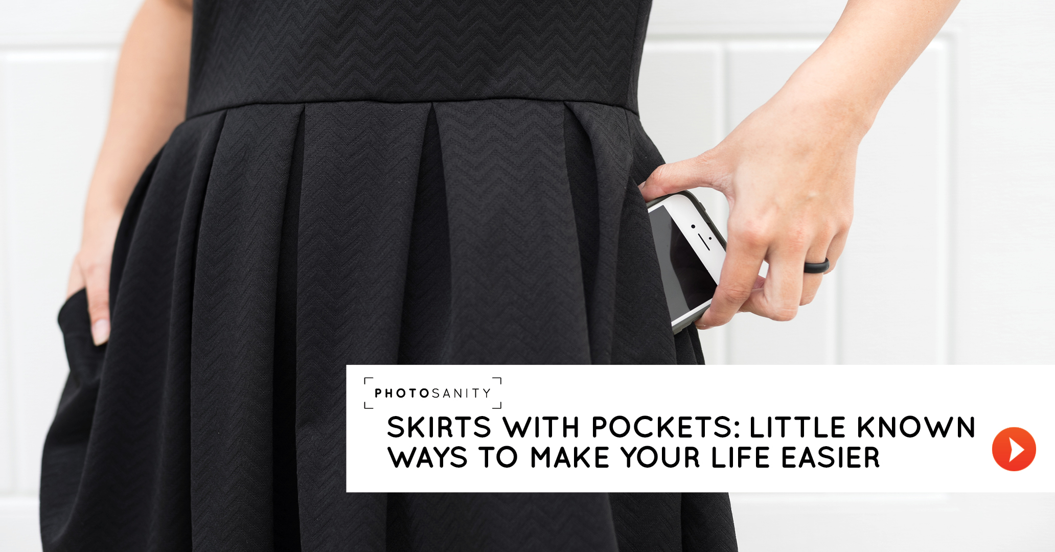 Skirts with pockets: little known ways to make your life easier