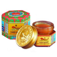 red tiger balm.  sprains  strains muscles  bruising  sinus