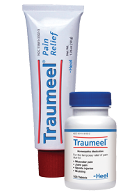 TRAUMEEL OINTMENT & TABLETS. PAIN RELIEF. MUSCLE ACHES. TRAUMA.