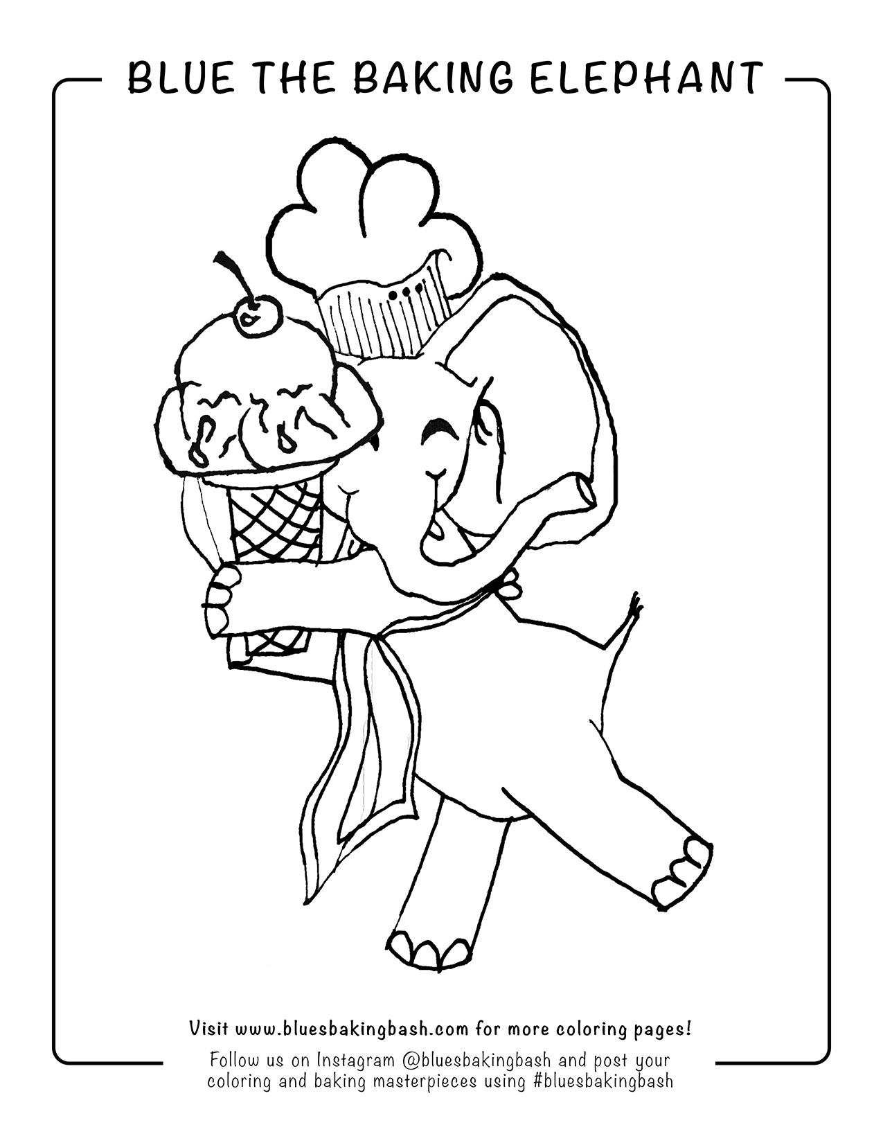 Blue The Baking Elephant Loves Ice Cream