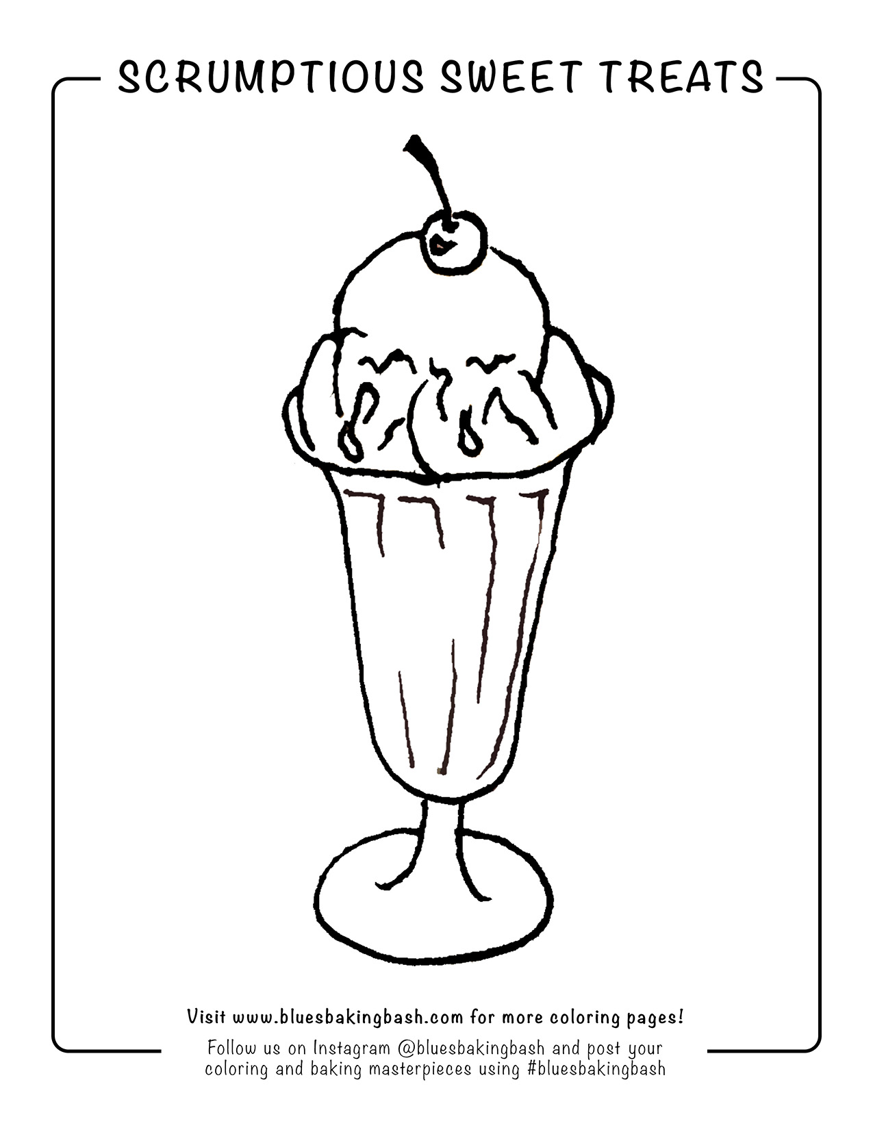 Blue's Ice Cream Sundae