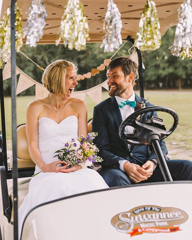 When he asks you if you wanna golf cart into the sunset together... 💍 We love Spirit of the Suwannee weddings so much! ⁠⠀ ✨⁠⠀ ⁠⠀ ⁠⠀ ⁣⁠⠀ ⁠⠀ ⁠⠀ ⁠⠀ ⁣⁠⠀ ⁠⠀ #jacksonvillebride #northfloridawedding #northfloridabride #jacksonvillewedding #jaxwedding #jacksonvilleweddingphotographer #jacksonvillephotographer #ilovejax #jacksonvilleengagement #spiritofthesuwannee #suwanneemusicpark #suwanneewedding #liveoakwedding #golfcartgetaway