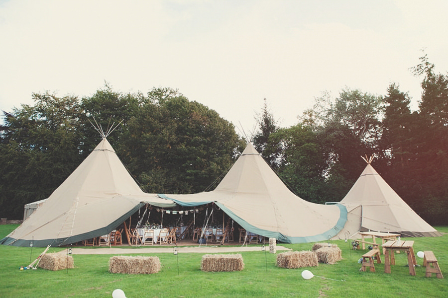 Papa Kata Teepee Wedding, Yorkshire