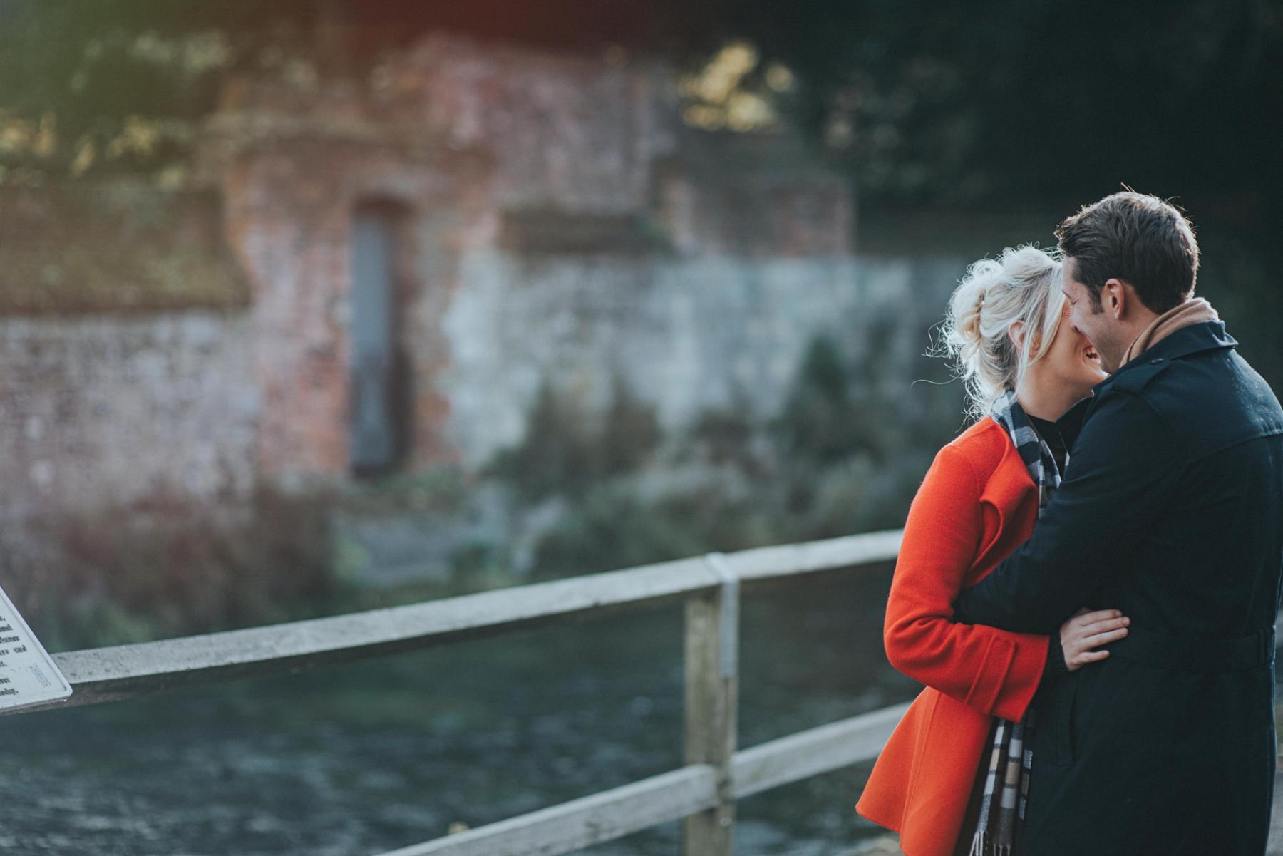 Red coat in photos