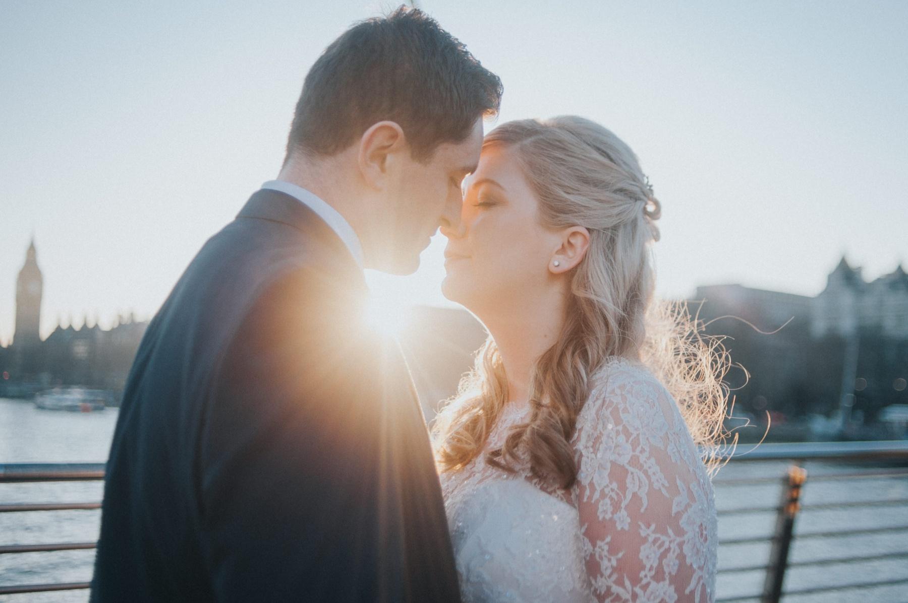 sunset wedding photos london