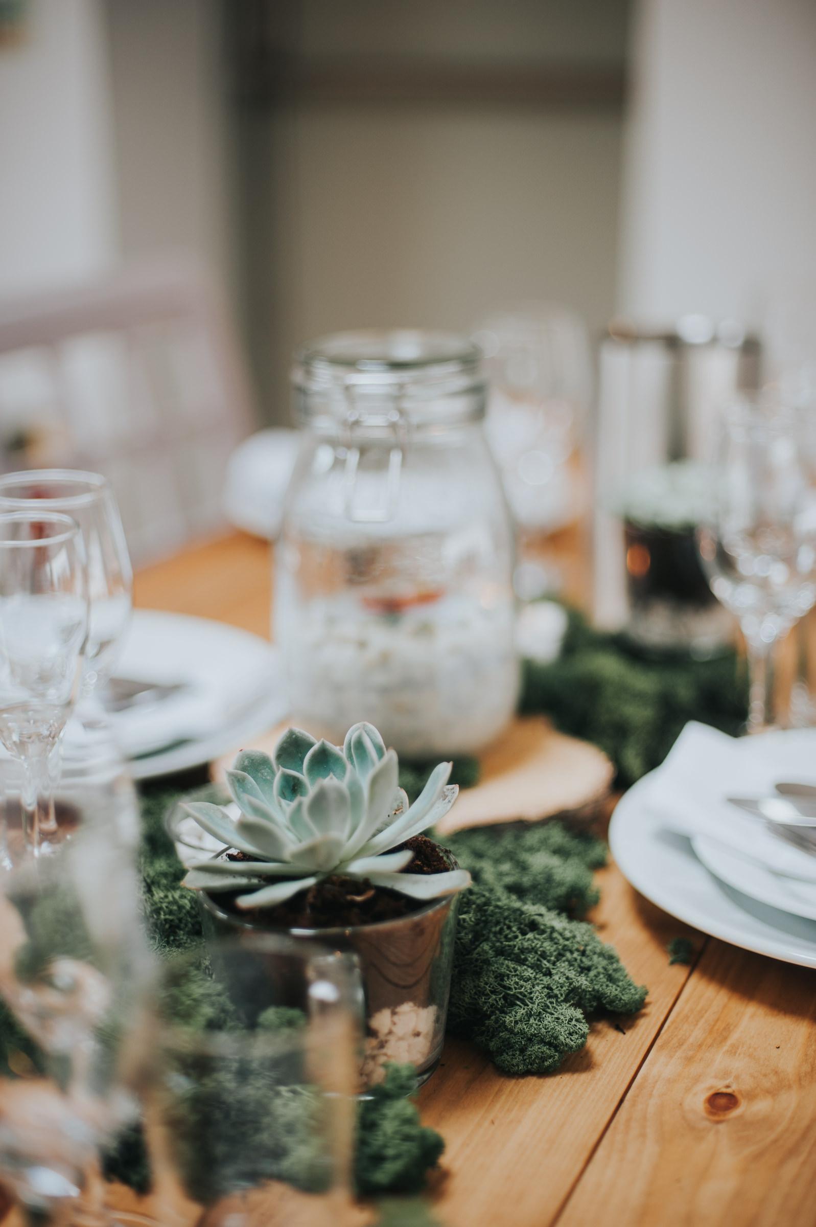 air plant terrarium table settings