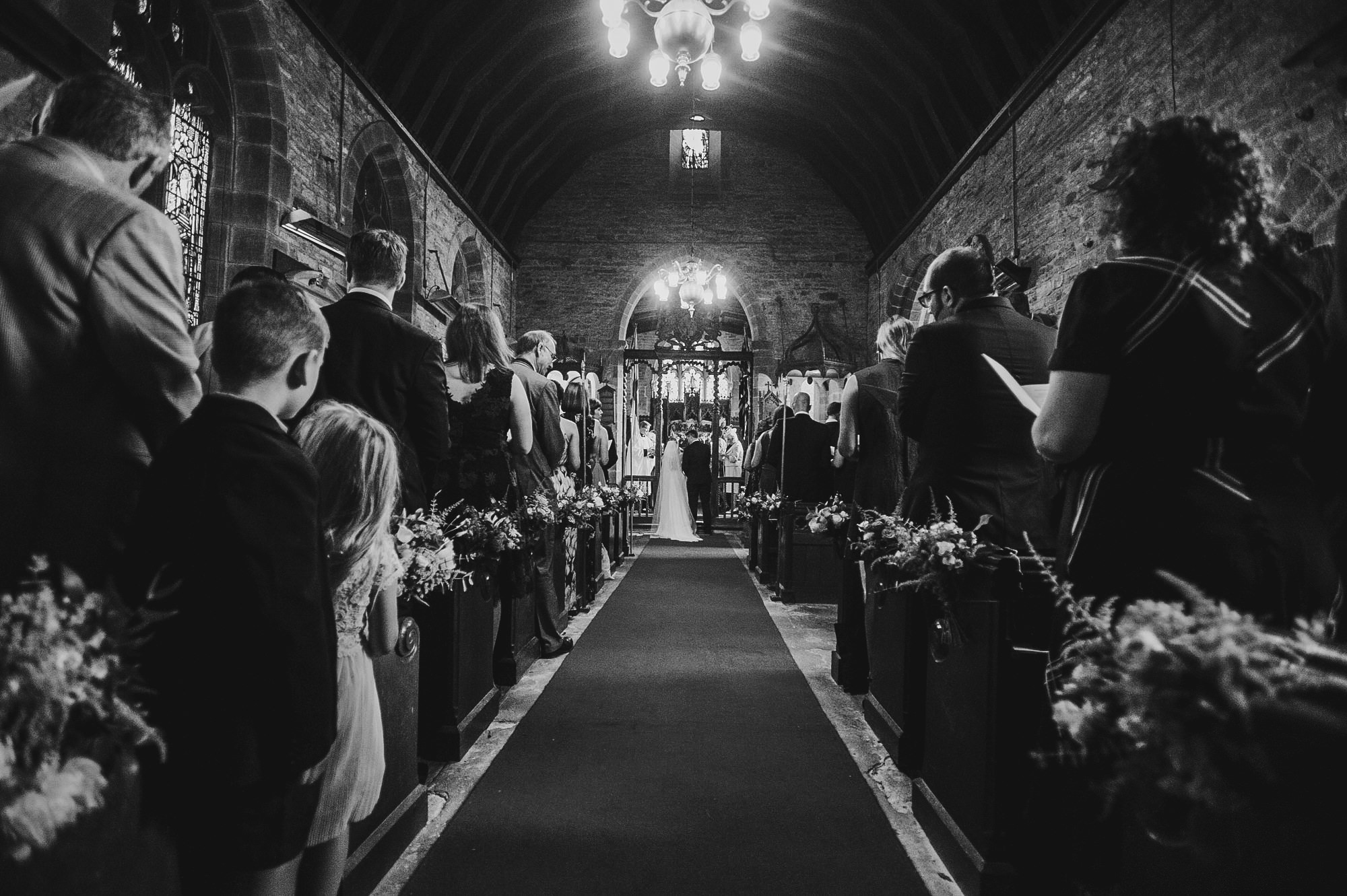 beautiful church ceremony at how caple court