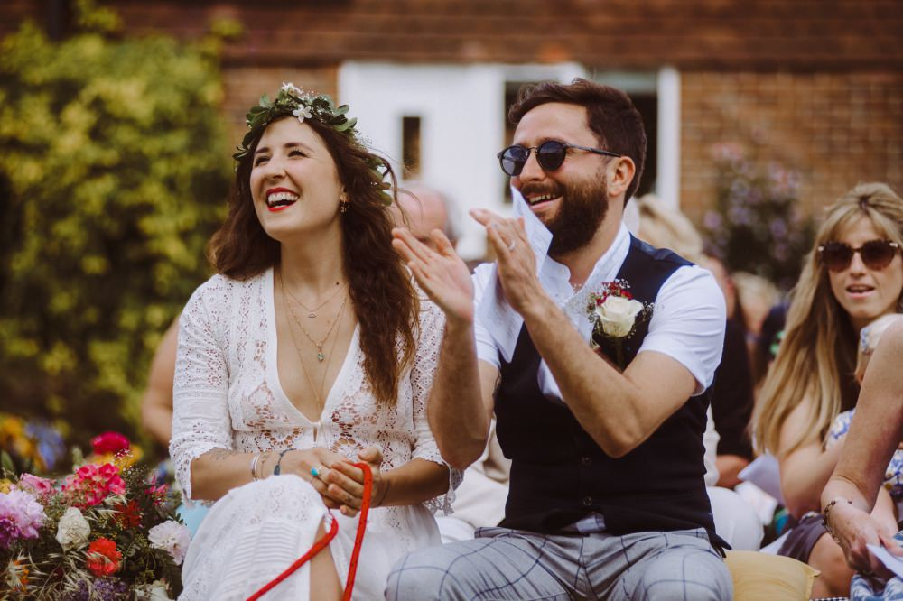 woodland festival wedding sussex