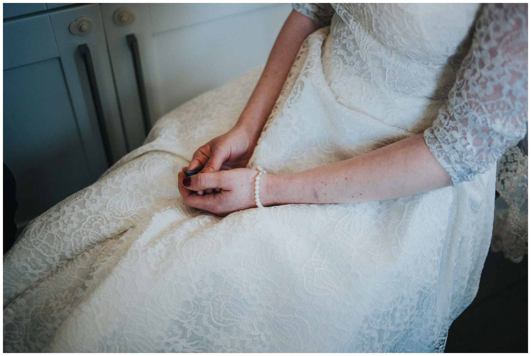Creative portraits of bridal prep