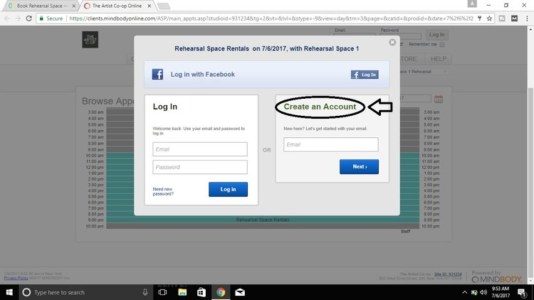 STEP 5 - CREATE AN ACCOUNT - It's easy peasy! (pinky promise) You can even login with Facebook.