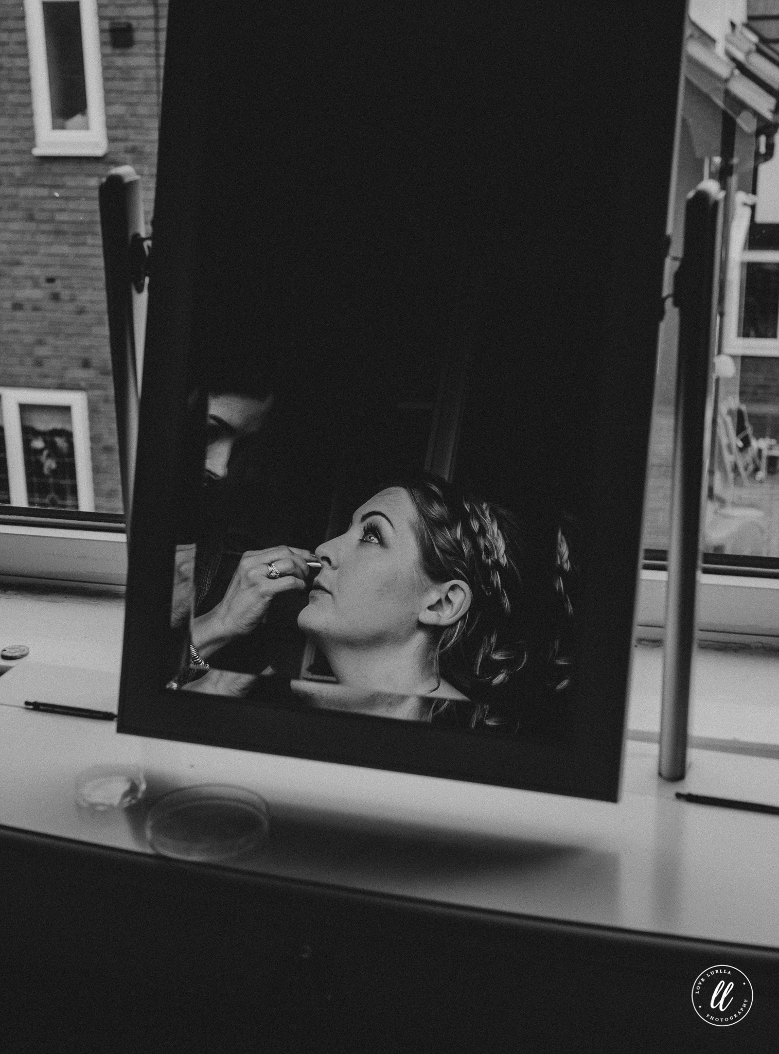 bridal prep photography north wales