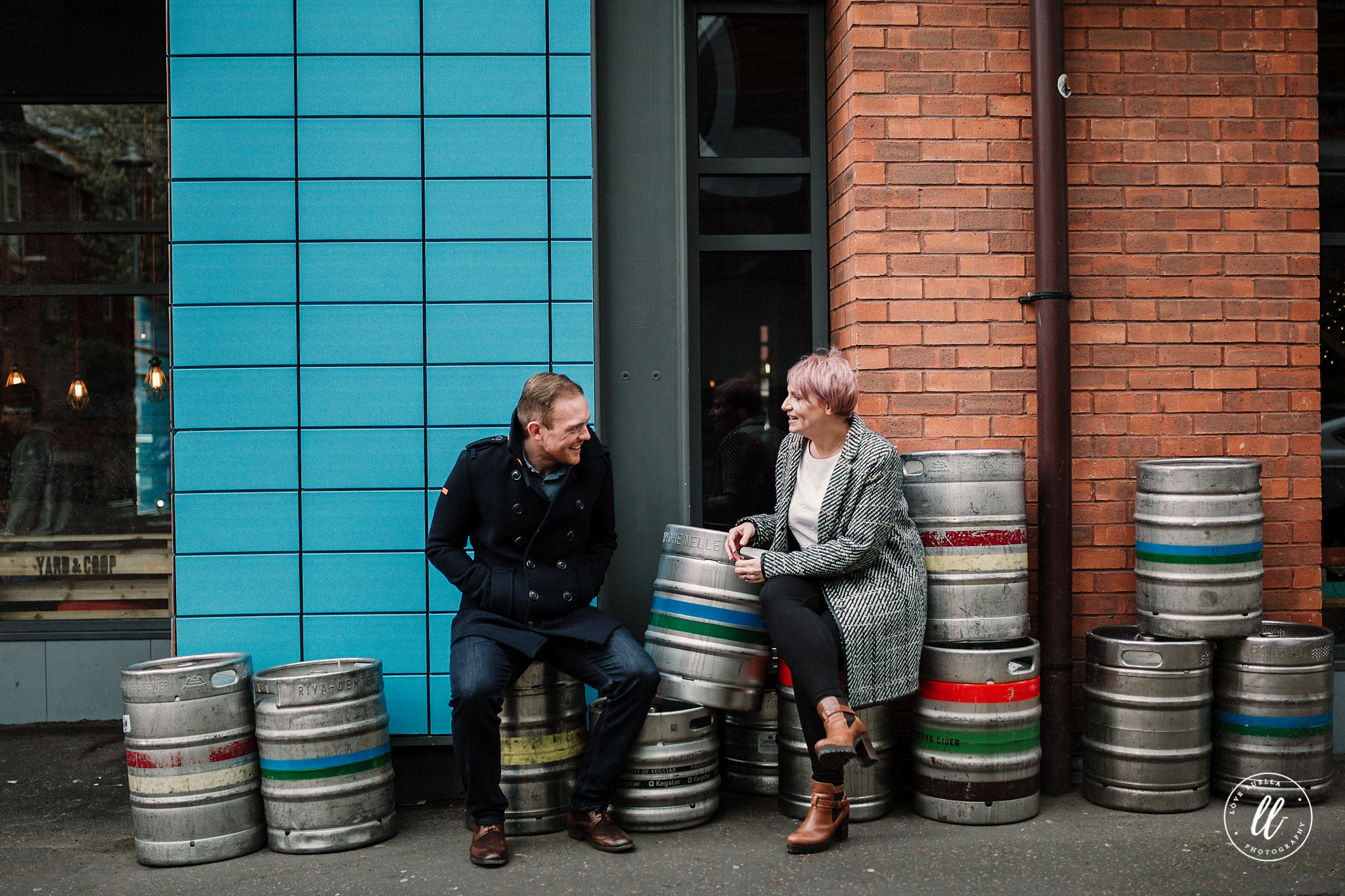 colourful engagement session- northern quarter