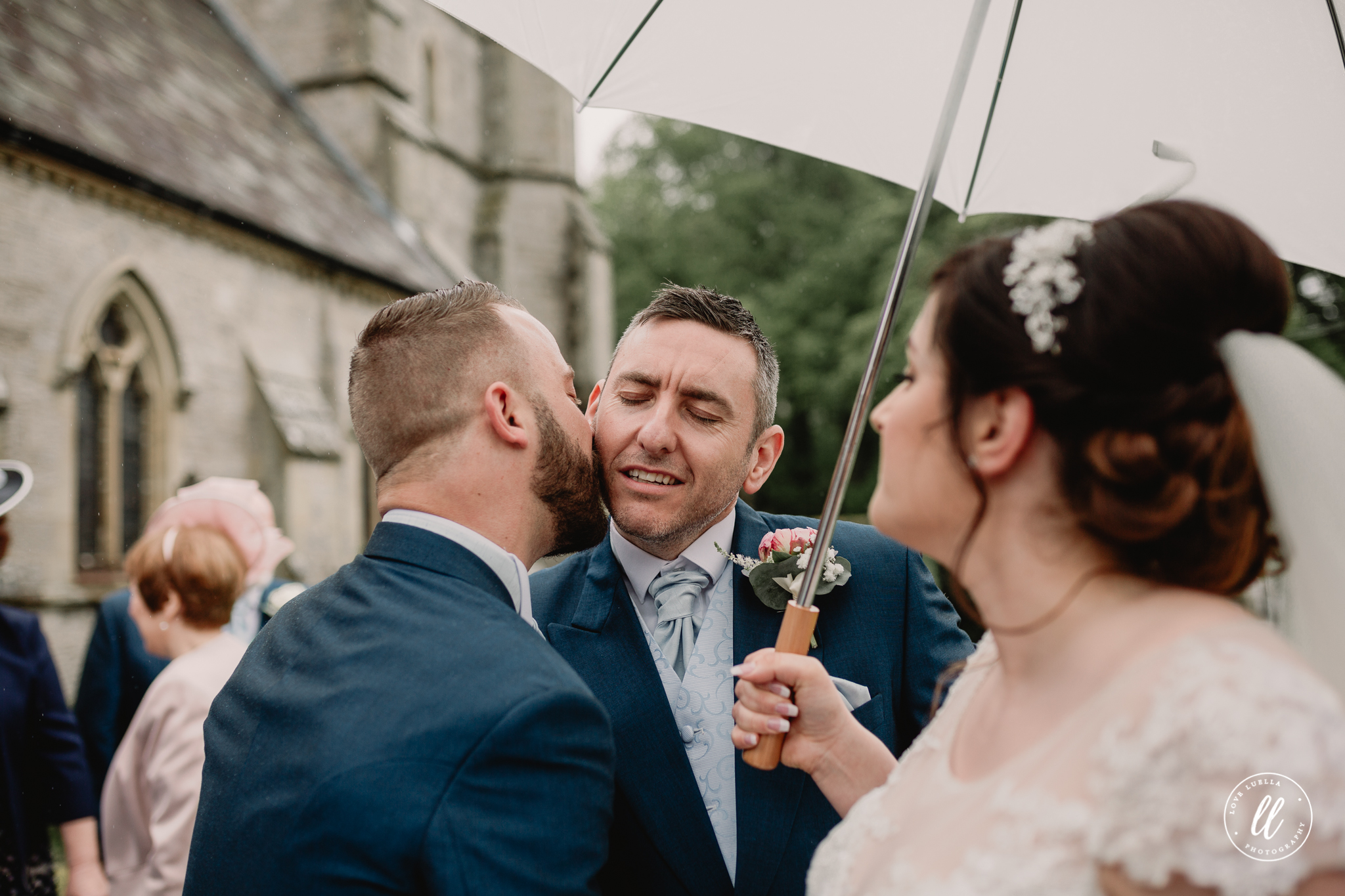 Hugs and kisses for the new Mr and Mrs