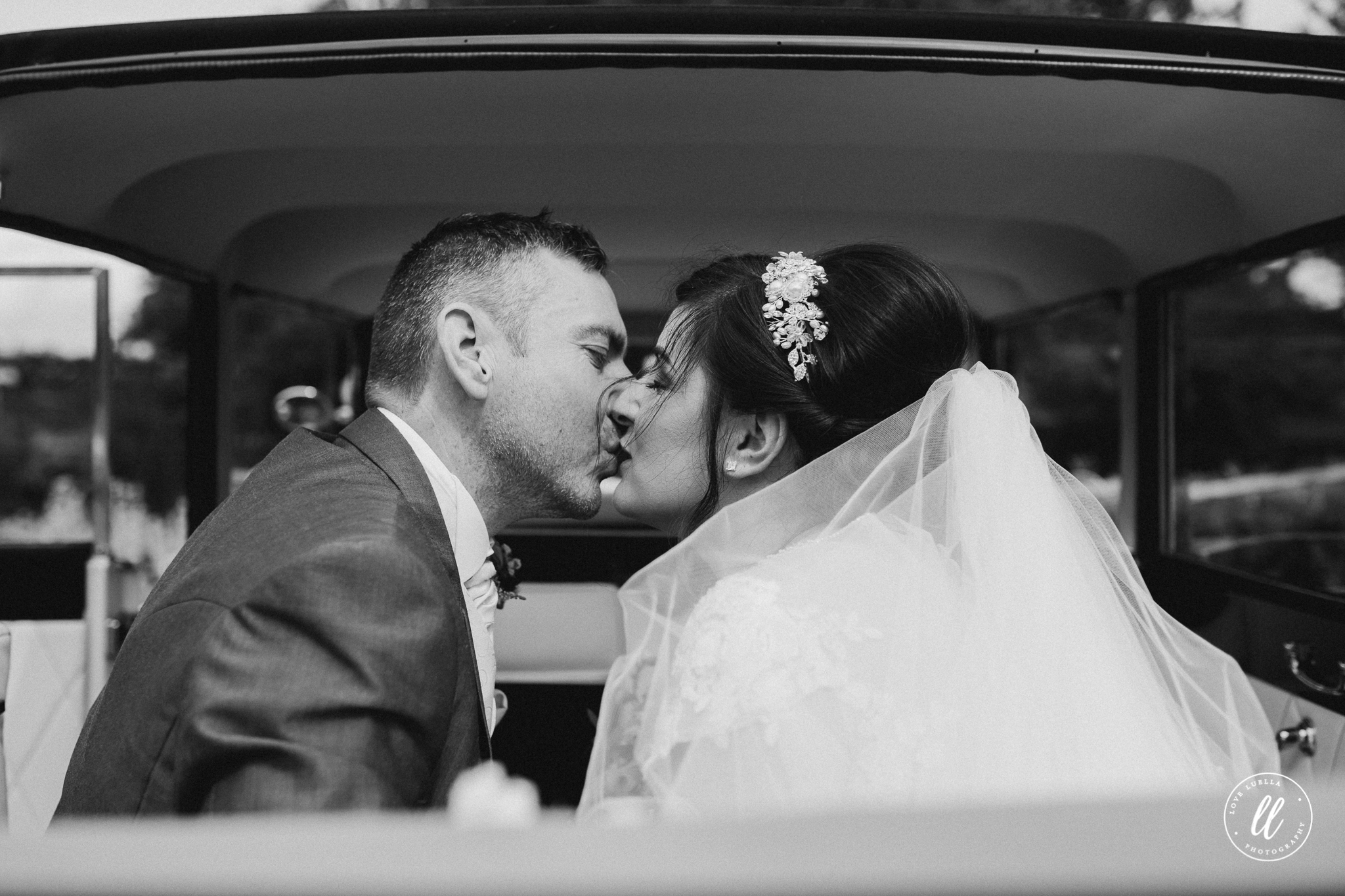 First Kiss in Lucy the love bus, campervan