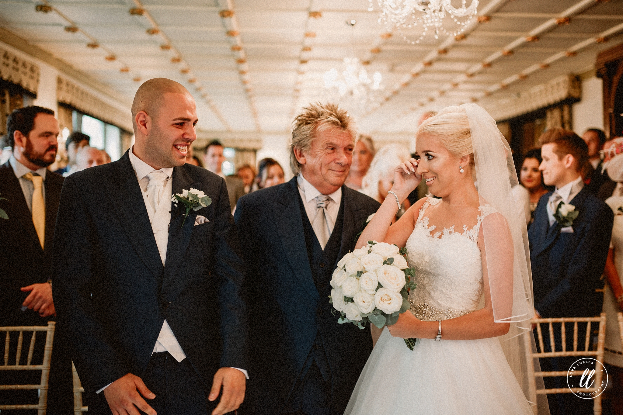 Bride And Groom In Happy Tears At Ruthin Castle