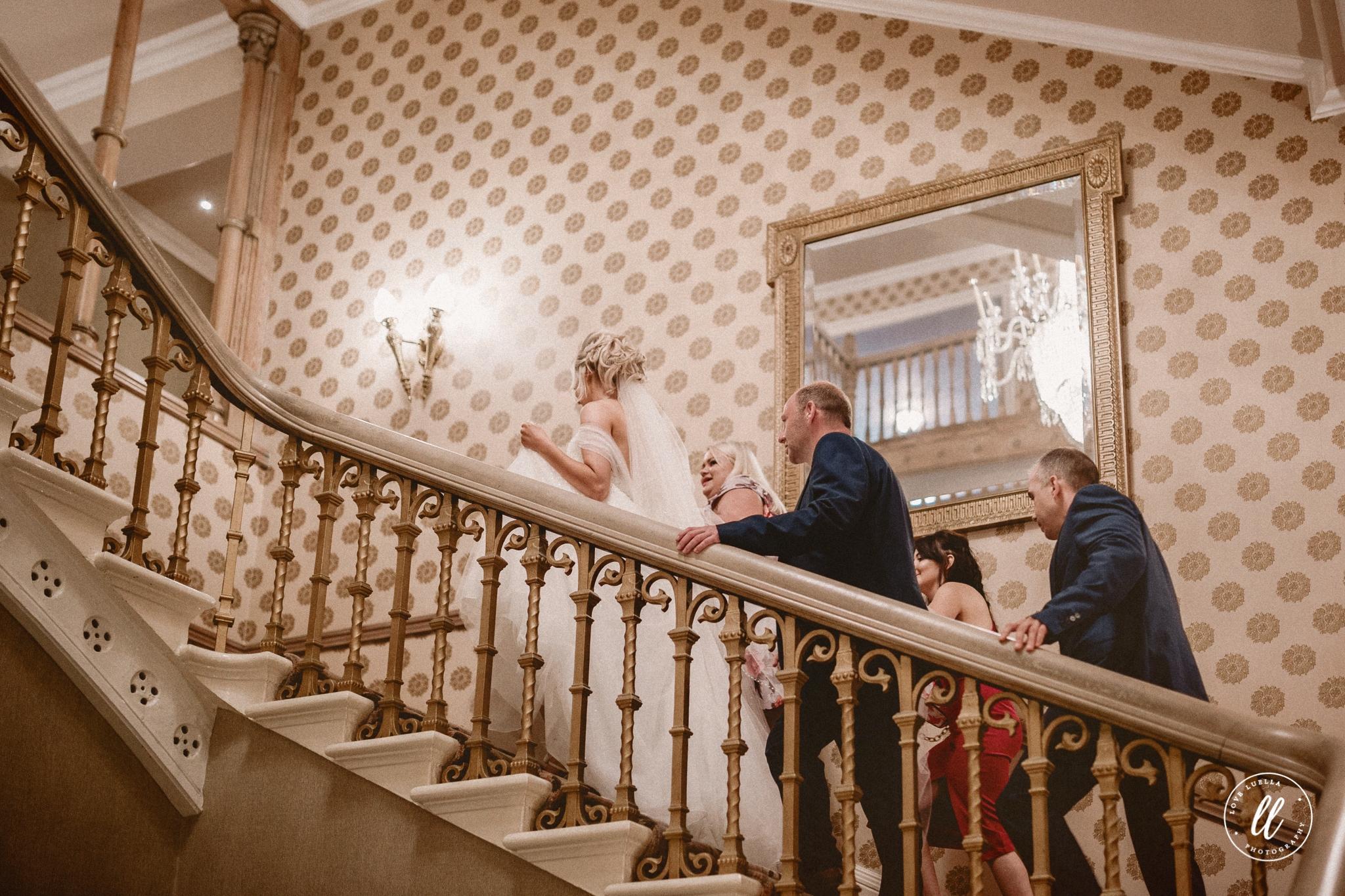 Ascending The Staircase At Chester Grosvenor