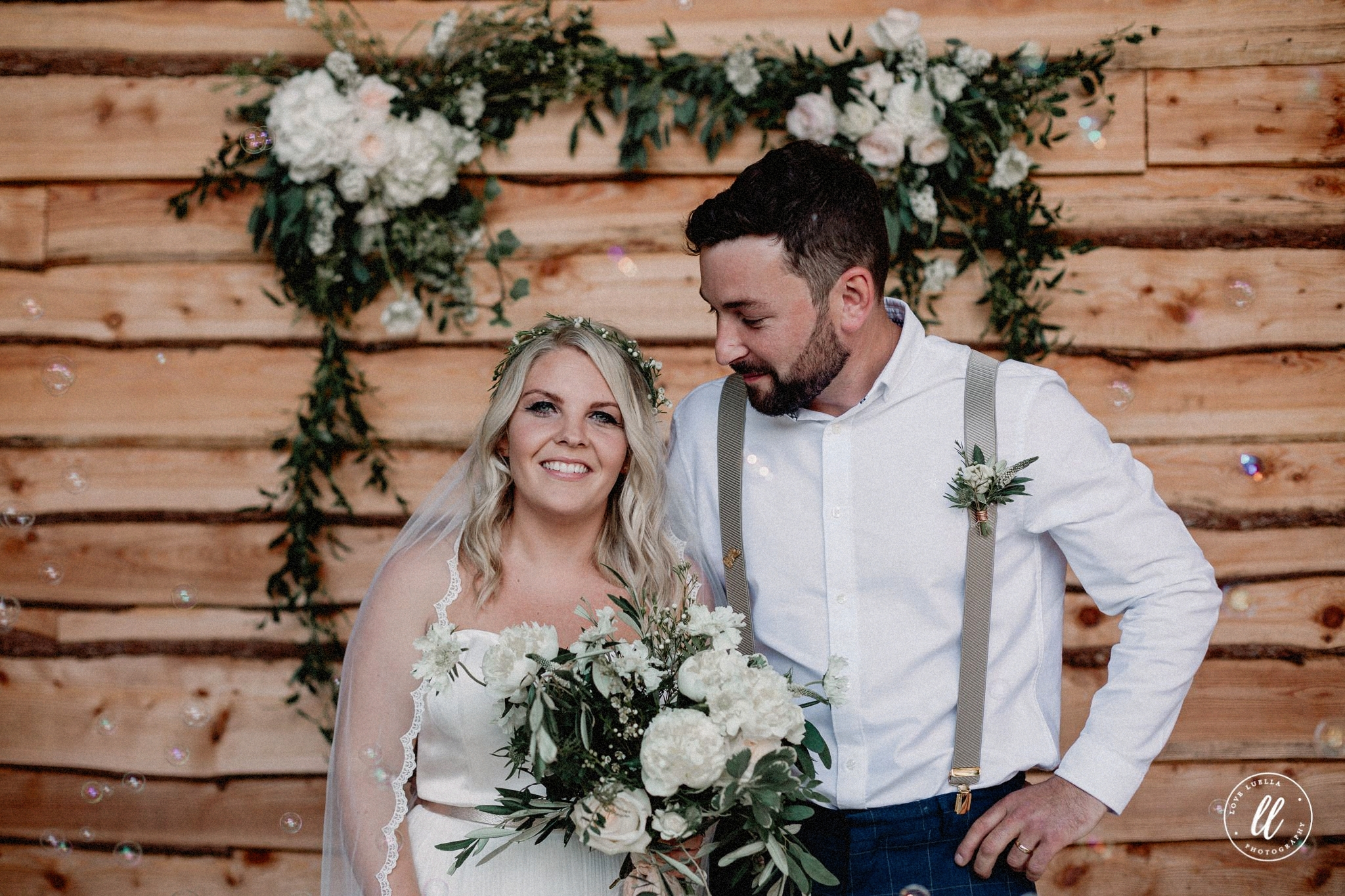 Tower Hill Barns Bridge Wedding Portrait