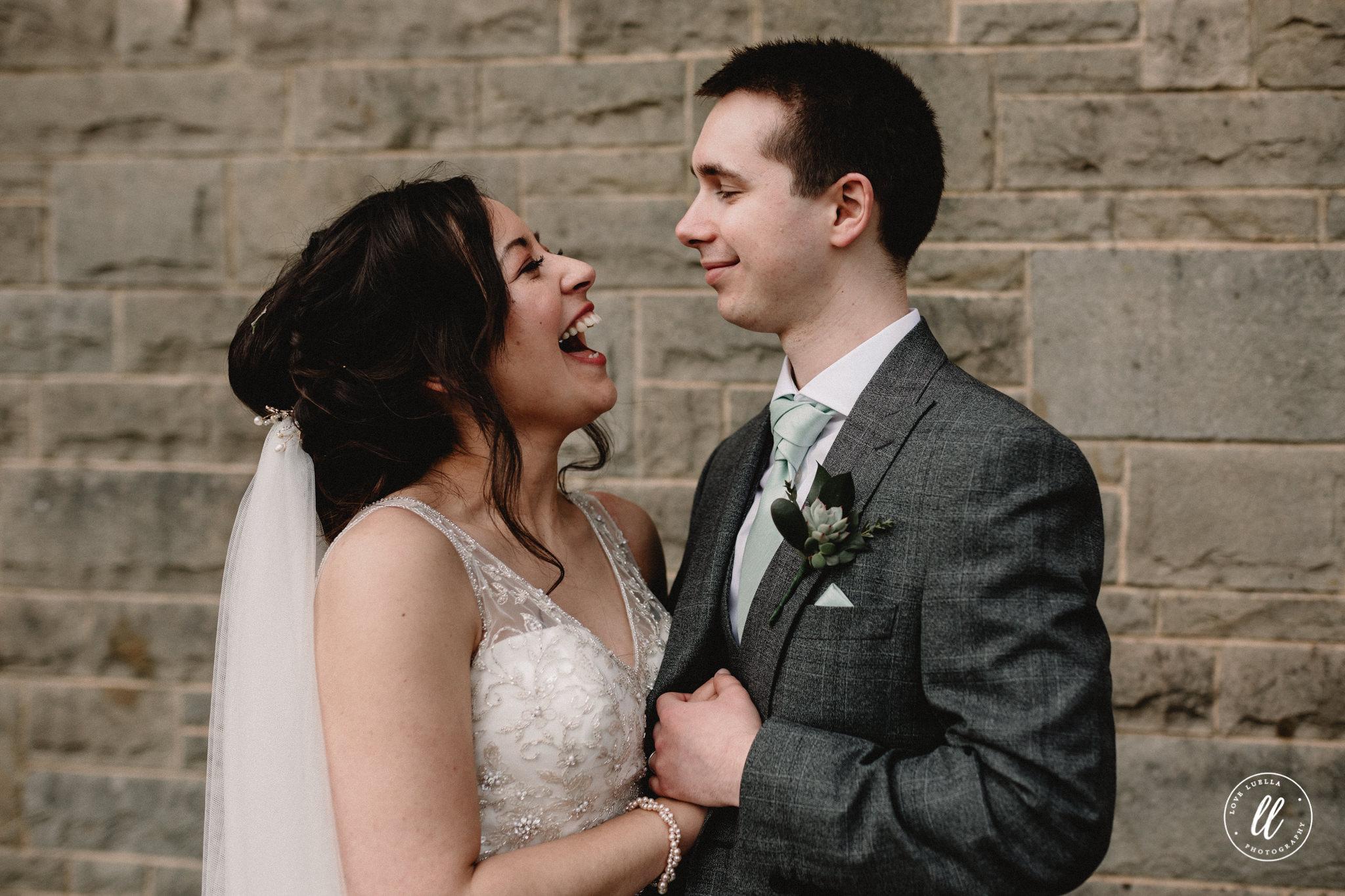 Fun Wedding Portrait Wales Photographer
