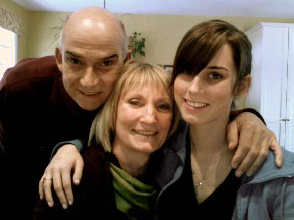 The last photo I have with my parents, four days before my father passed away.