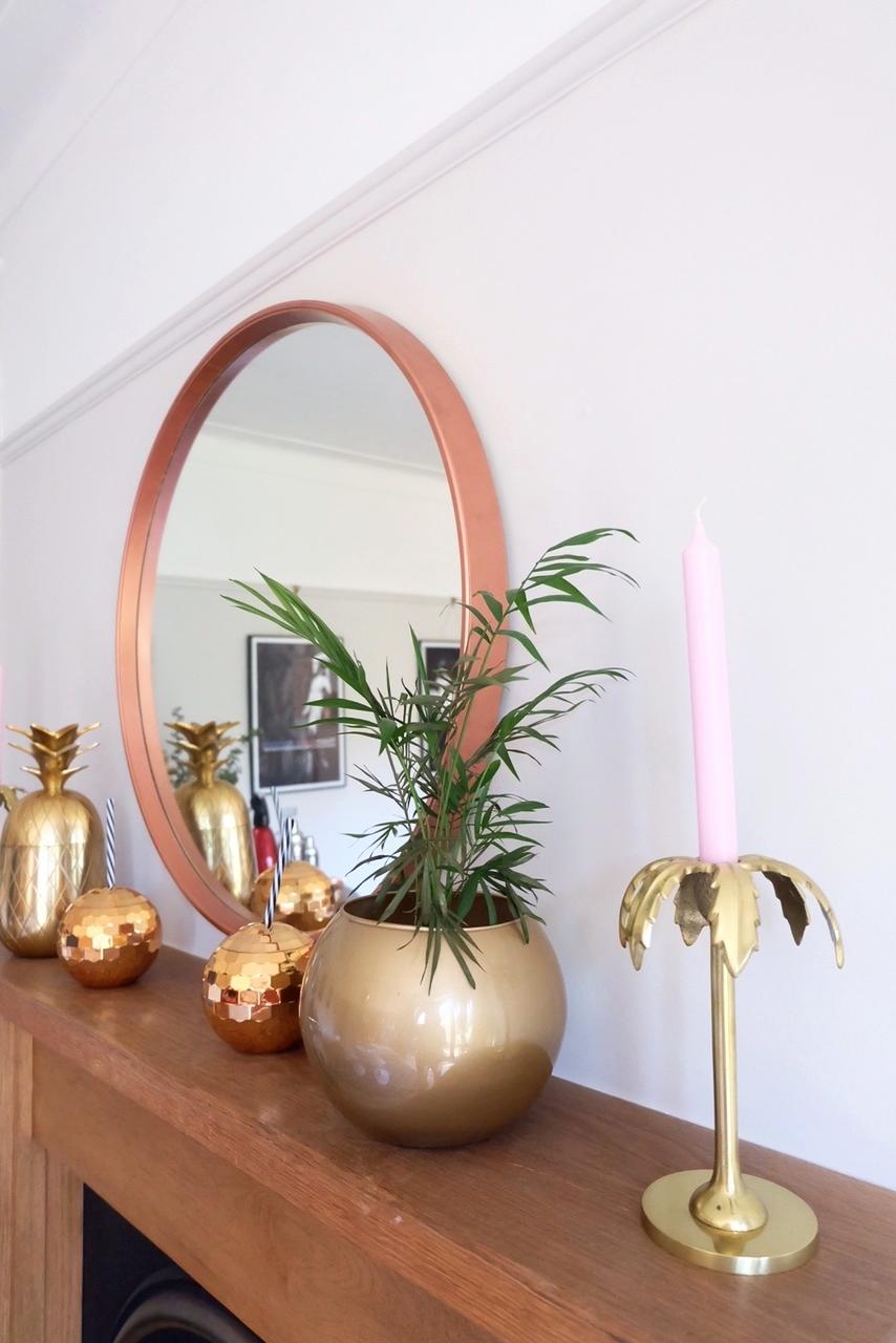Dotty Dishes DIY Copper Mirror