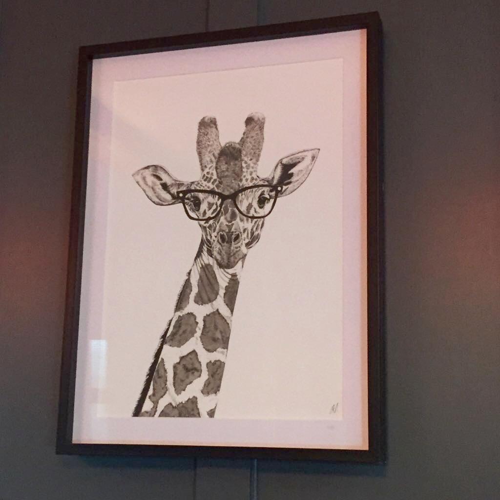 Modern Giraffe print
