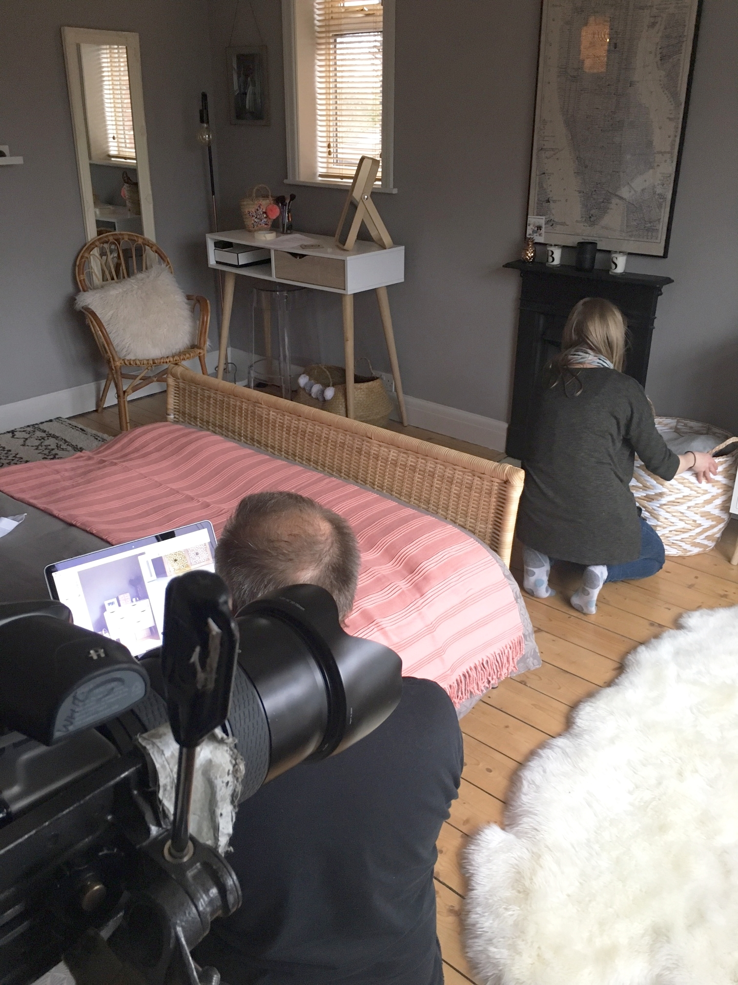 Interiors shoot behind the scenes