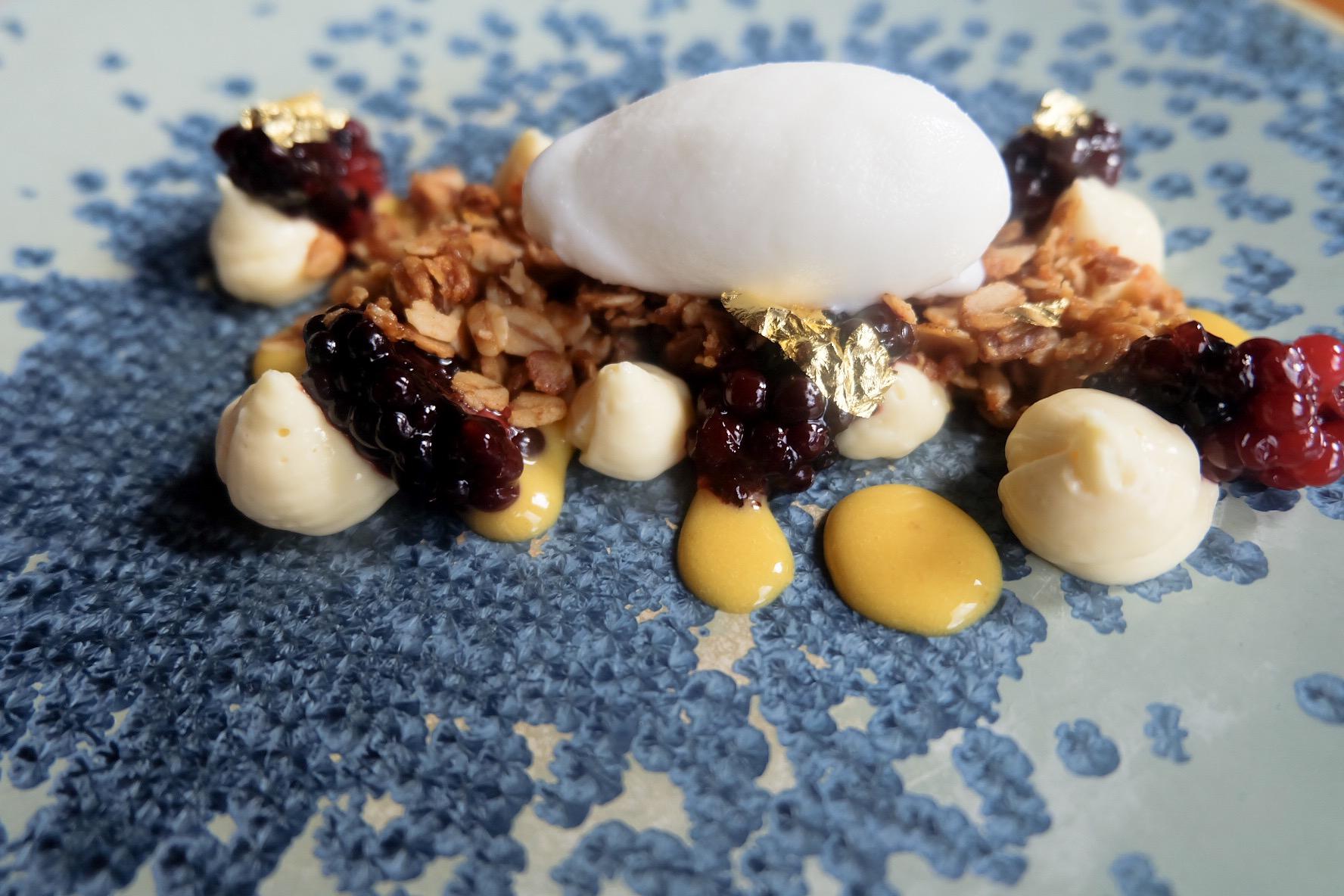 Manchester House Oats, Berries & Custard